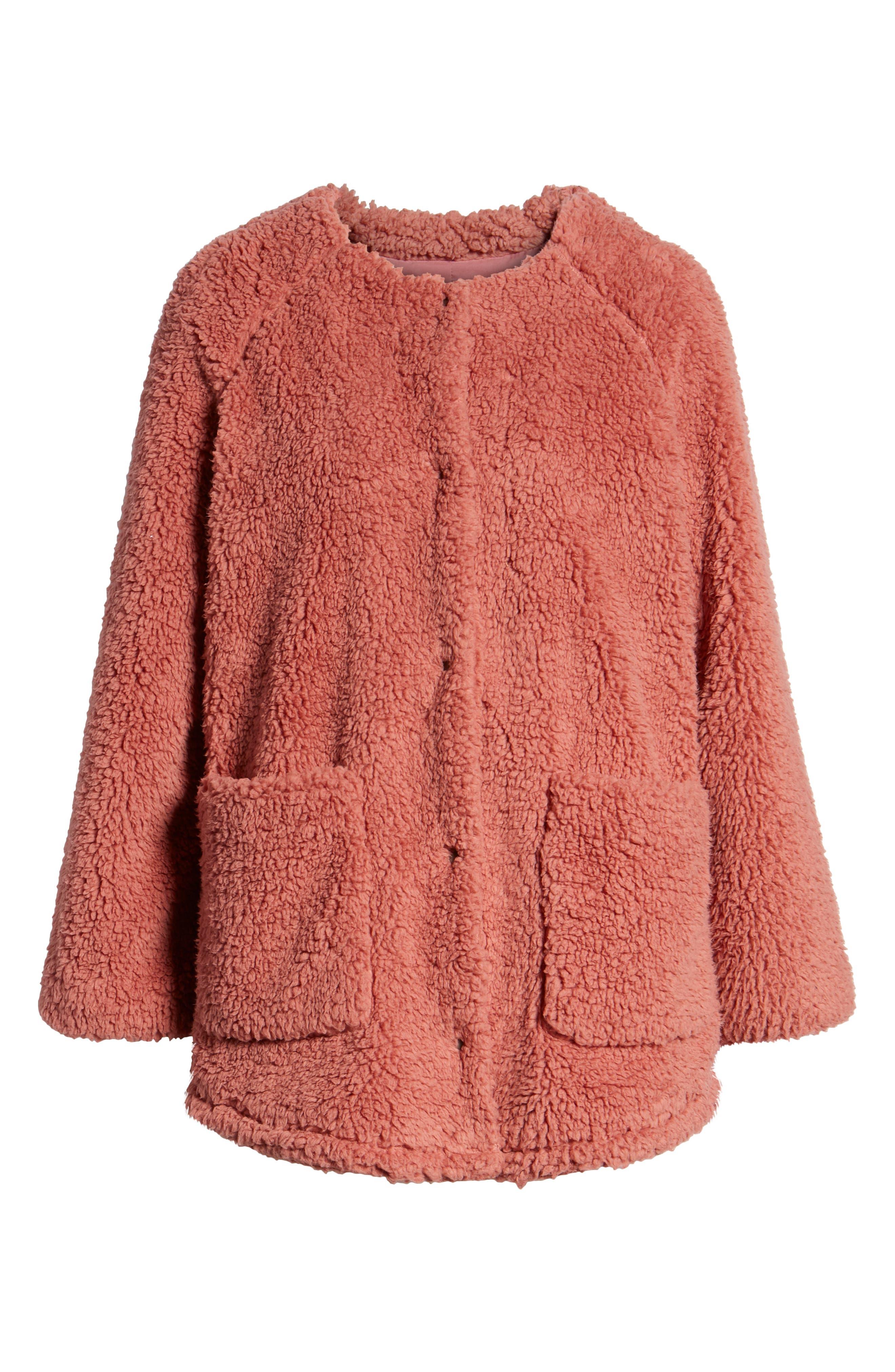 Fuzzy Fleece Jacket,                             Alternate thumbnail 6, color,                             650