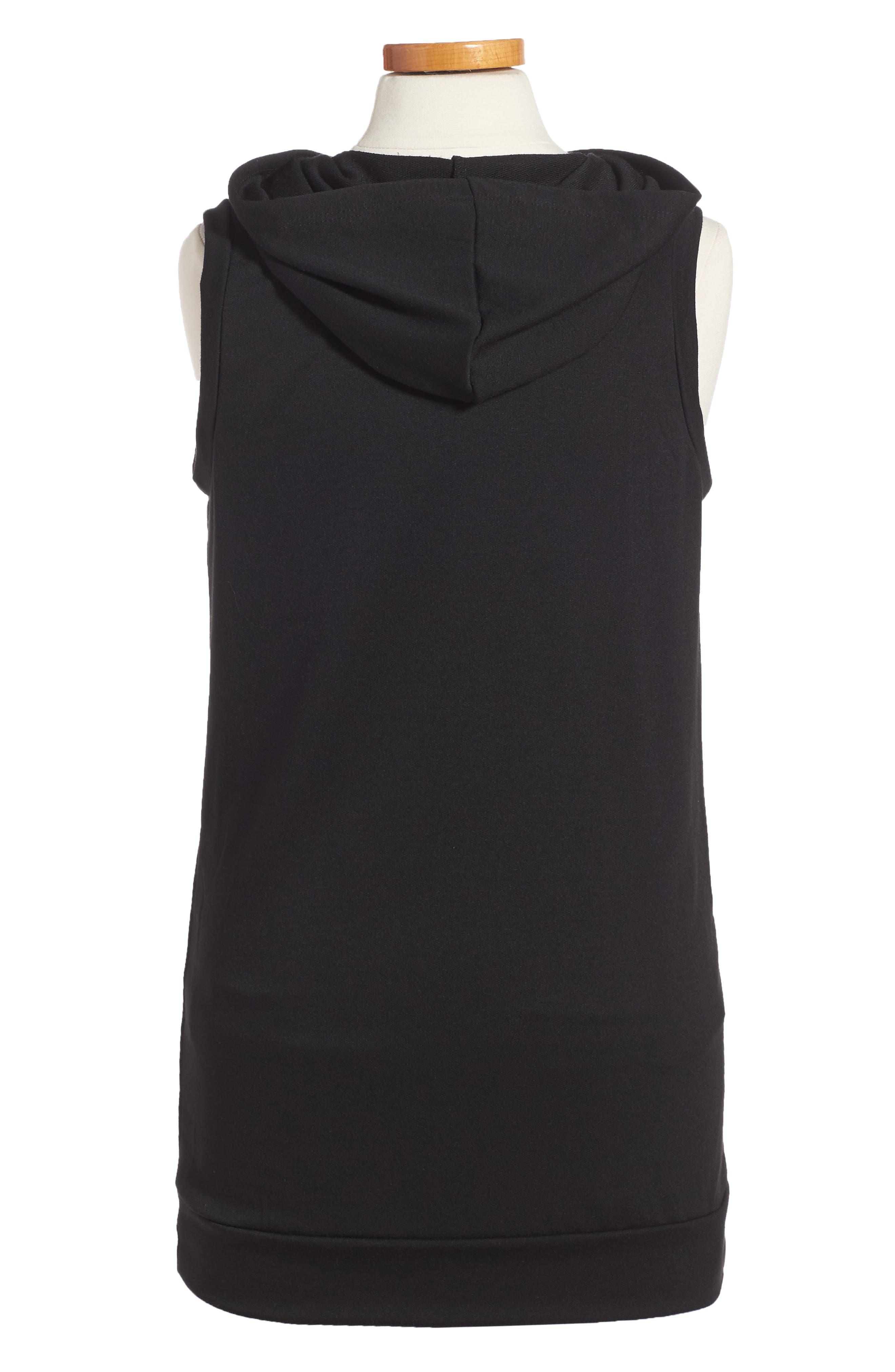 Hoodie Dress,                             Alternate thumbnail 2, color,                             001
