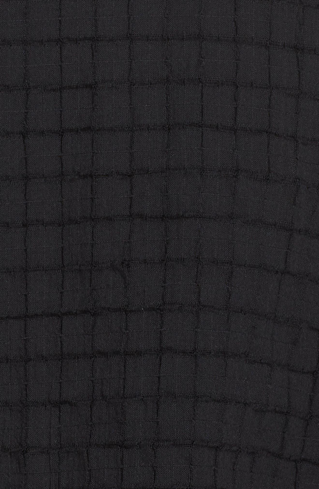 Split Neck Textured Tunic,                             Alternate thumbnail 6, color,                             001