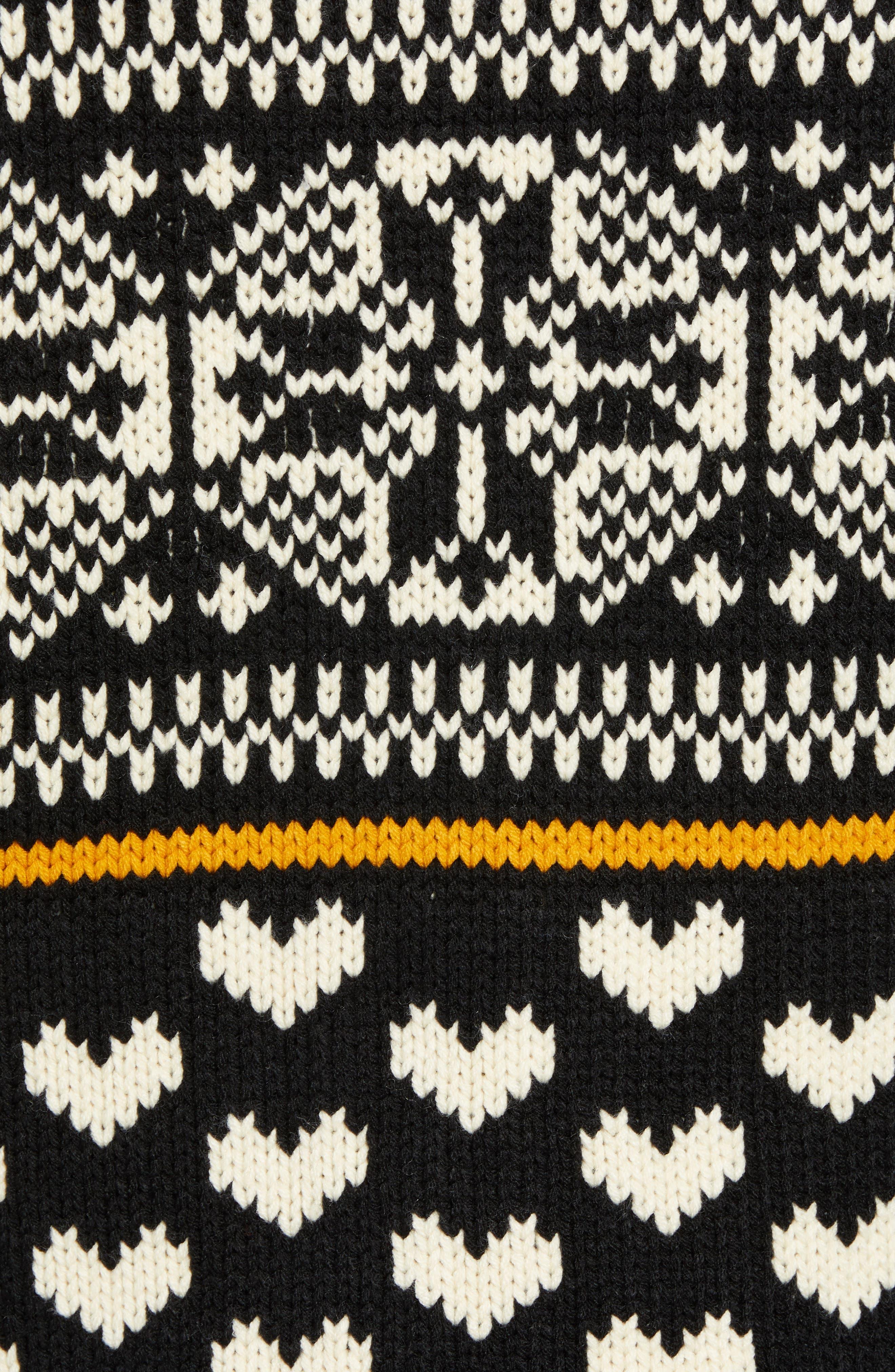 Chunky Fair Isle Sweater,                             Alternate thumbnail 5, color,                             COMBO B