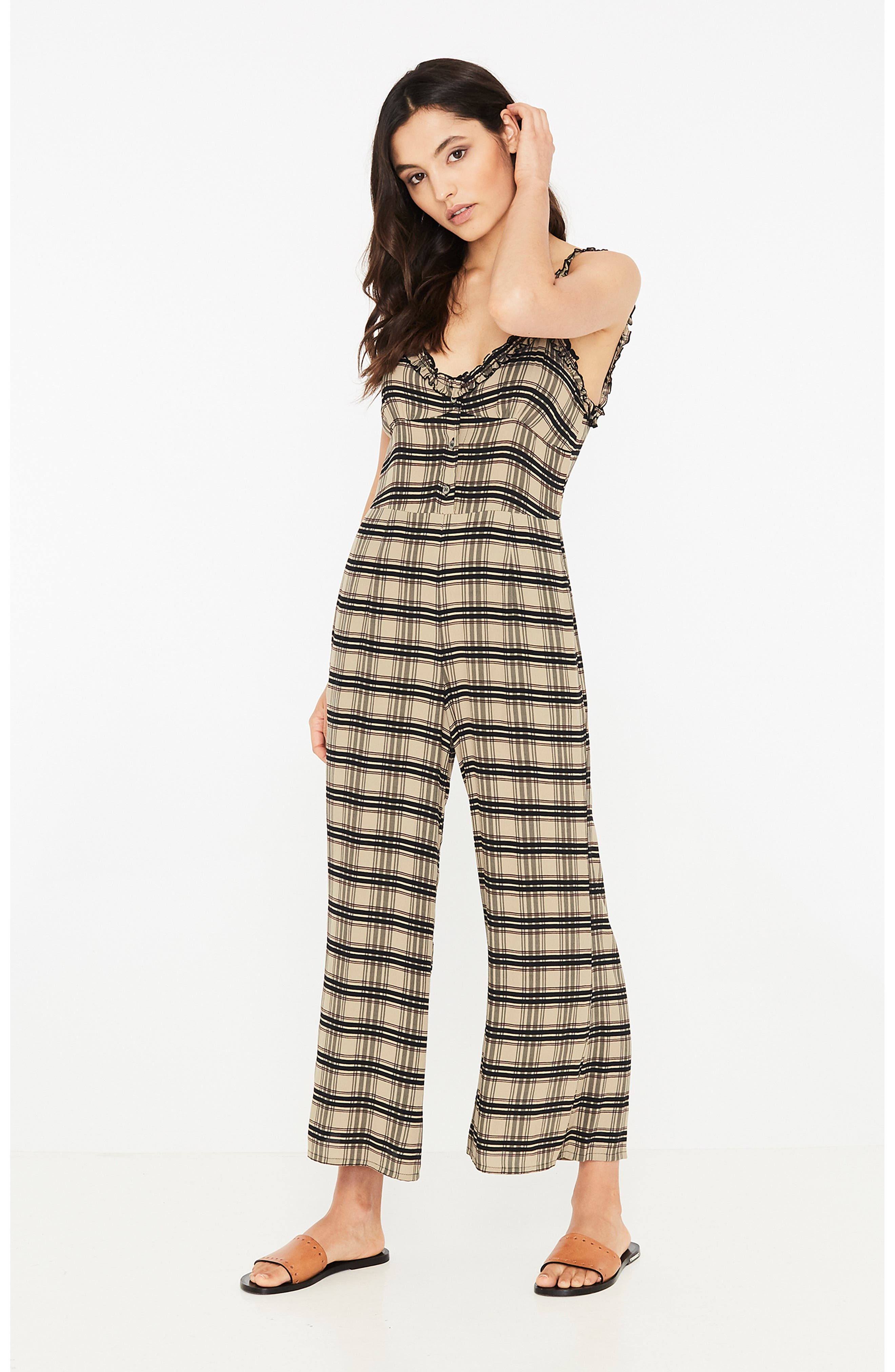Cancun Plaid Jumpsuit,                             Alternate thumbnail 6, color,                             HILLARY PRINT