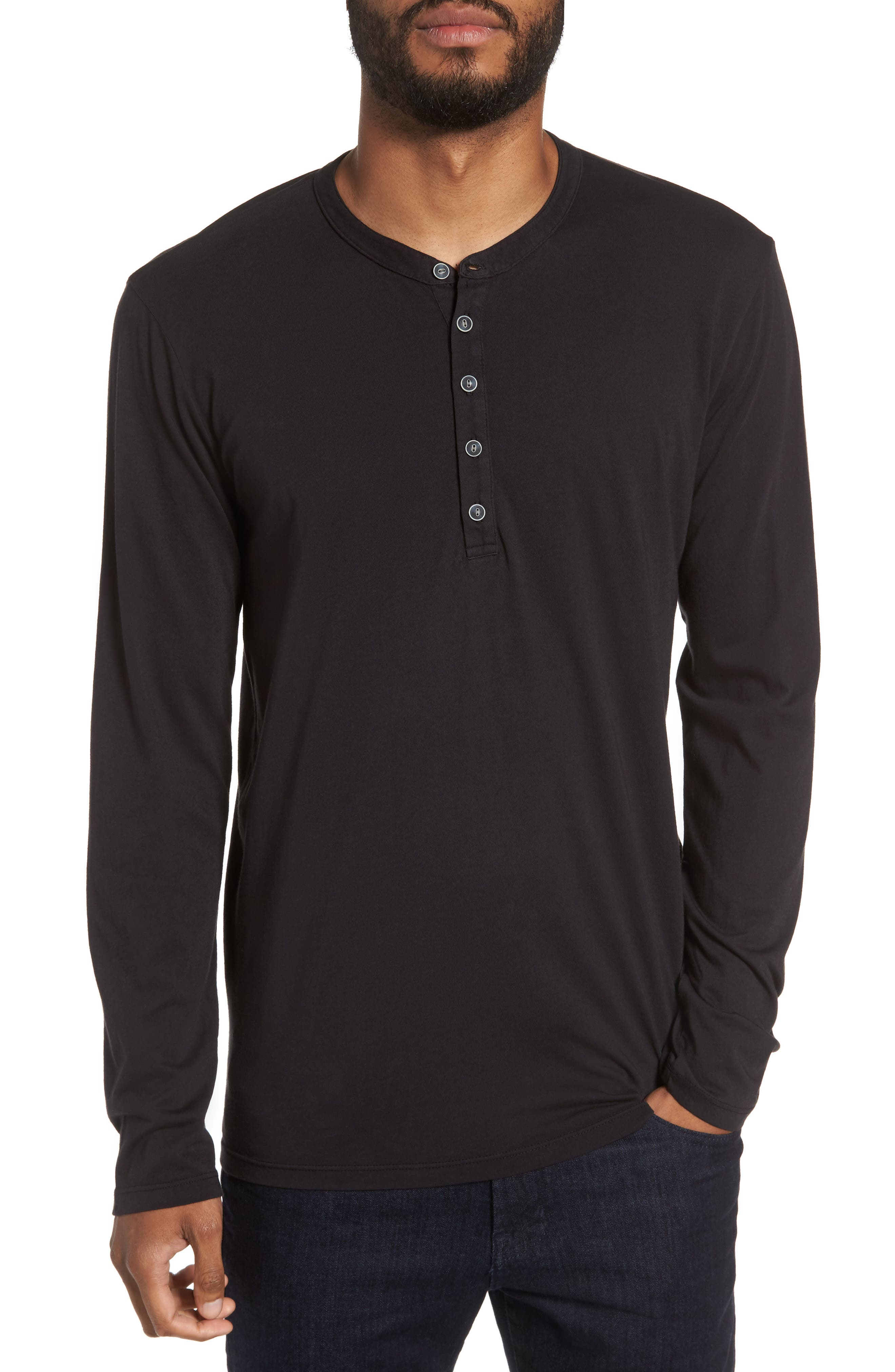 Slim Fit Long Sleeve Henley,                         Main,                         color, 026