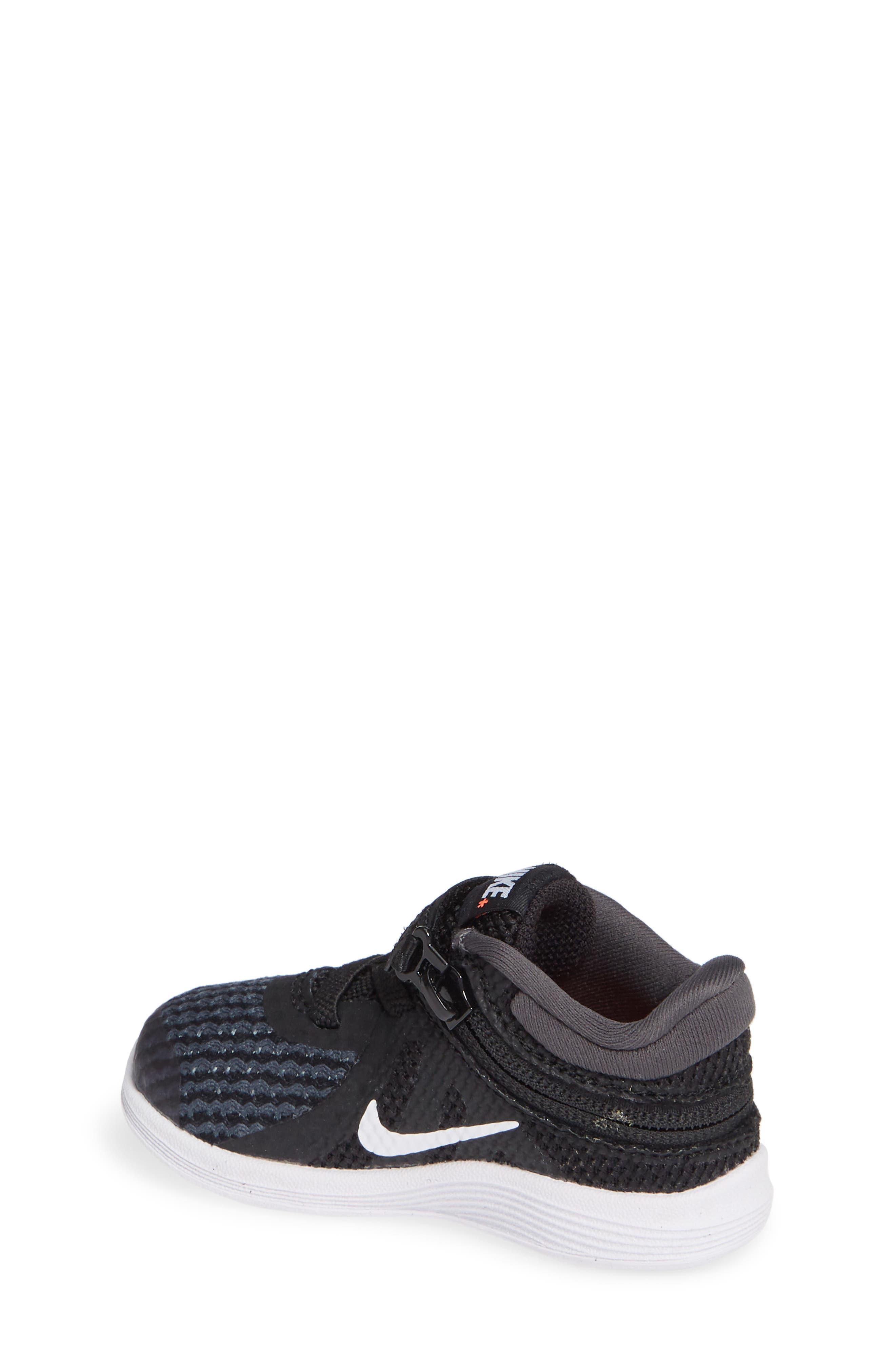 NIKE,                             Revolution 4 Flyease Sneaker,                             Alternate thumbnail 2, color,                             BLACK TOTAL CRIMSON