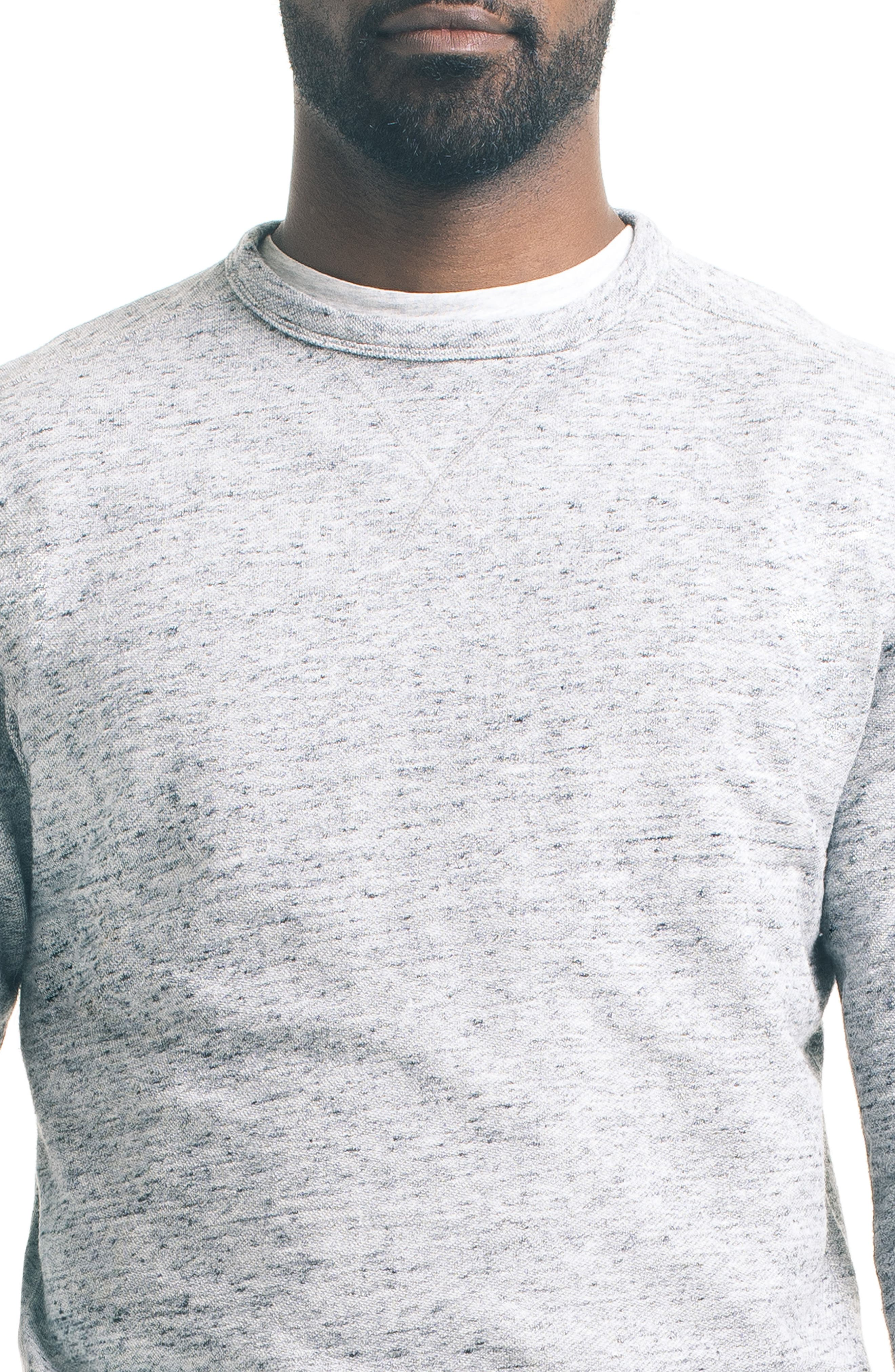 Varsity Slim Slub Sweatshirt,                             Alternate thumbnail 4, color,