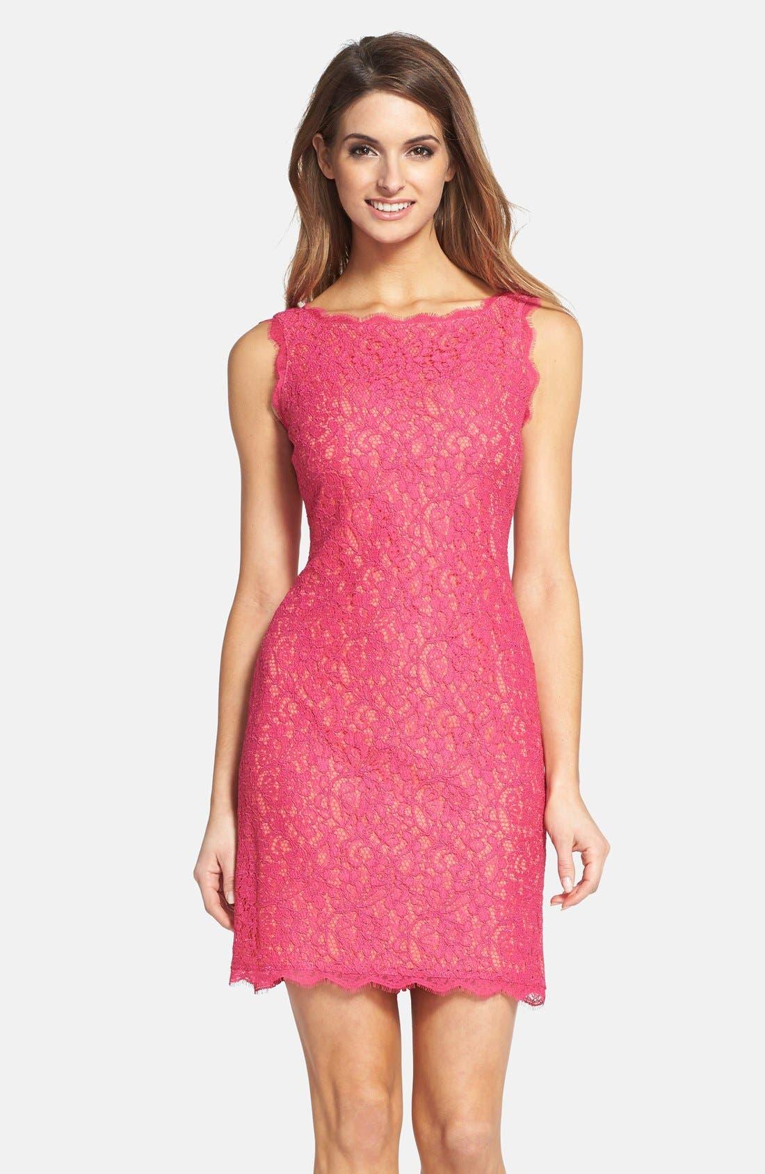 Boatneck Lace Sheath Dress,                             Main thumbnail 26, color,