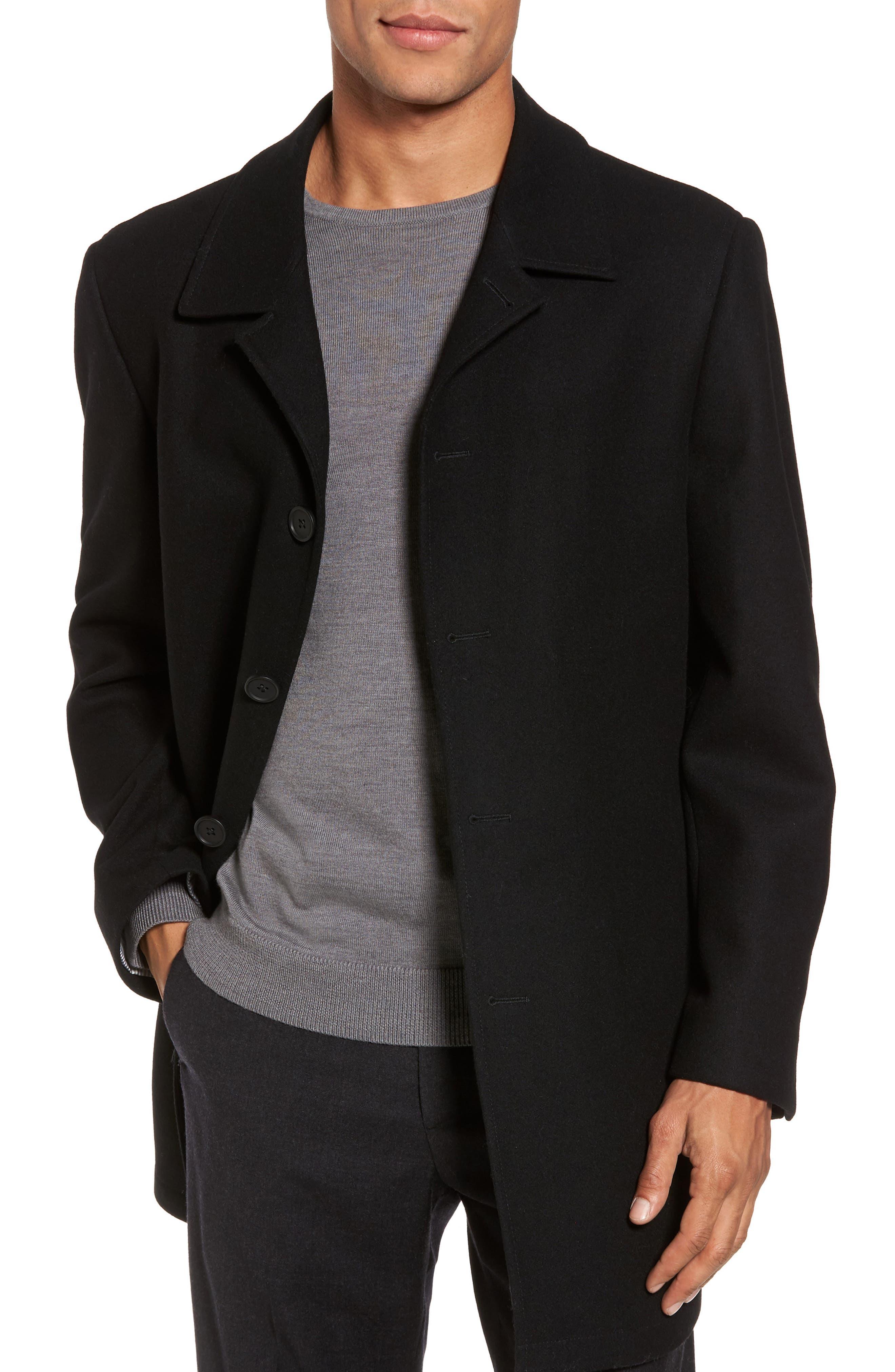 Wool Blend Car Coat,                             Main thumbnail 1, color,                             001