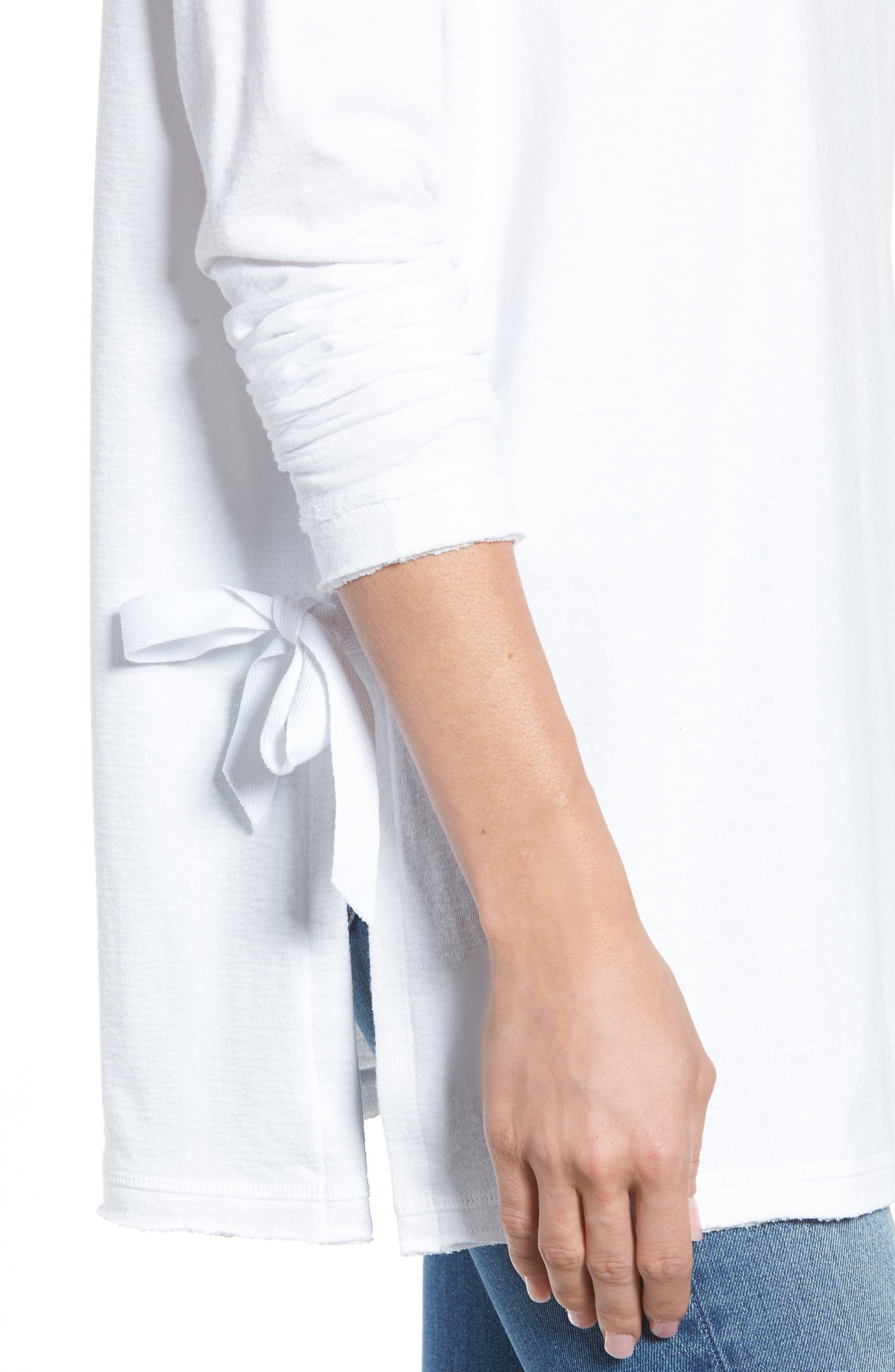 Side Tie Cotton Tunic Top,                             Alternate thumbnail 13, color,