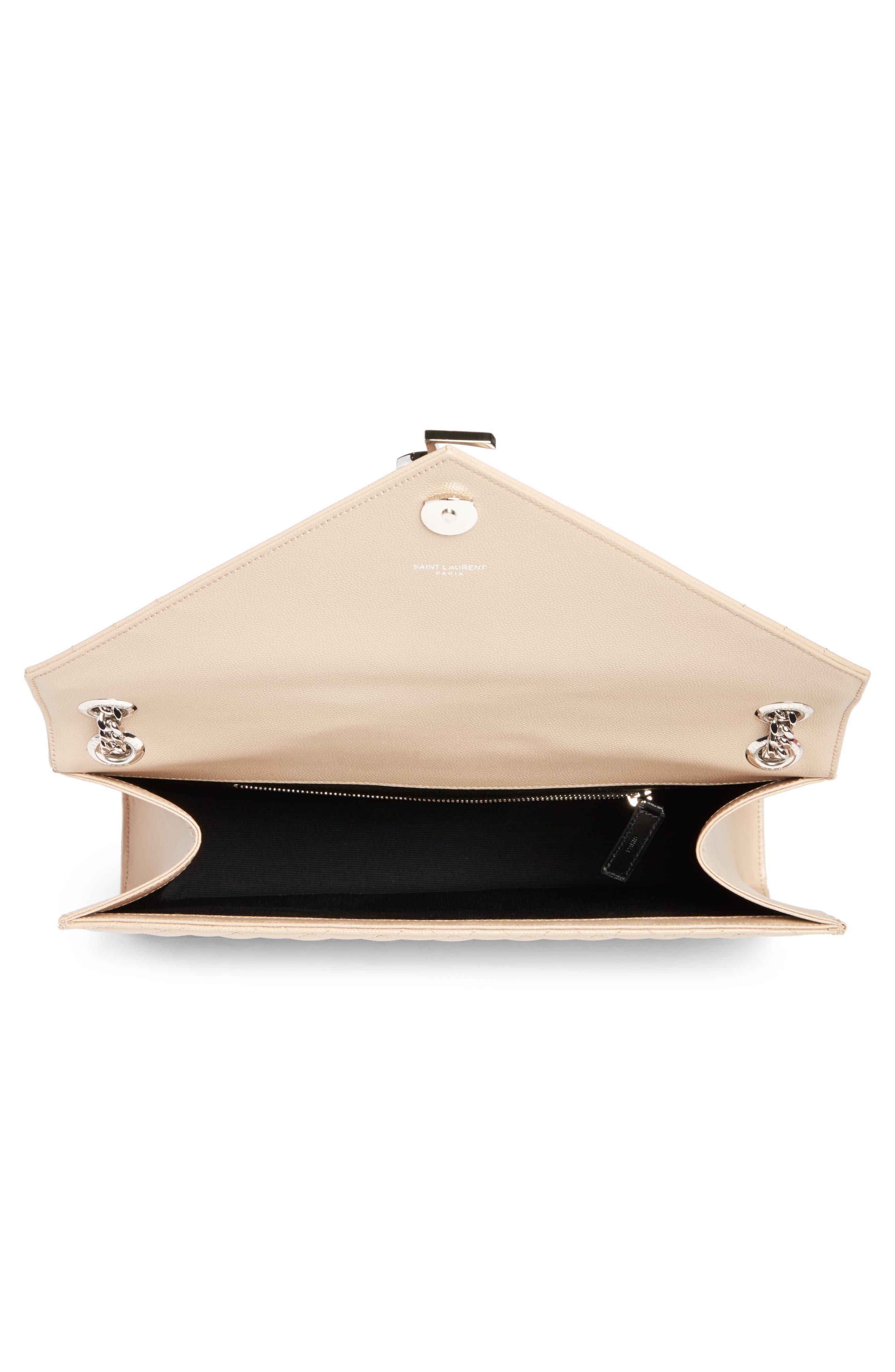Large Monogramme Calfskin Leather Shoulder Bag,                             Alternate thumbnail 4, color,                             253