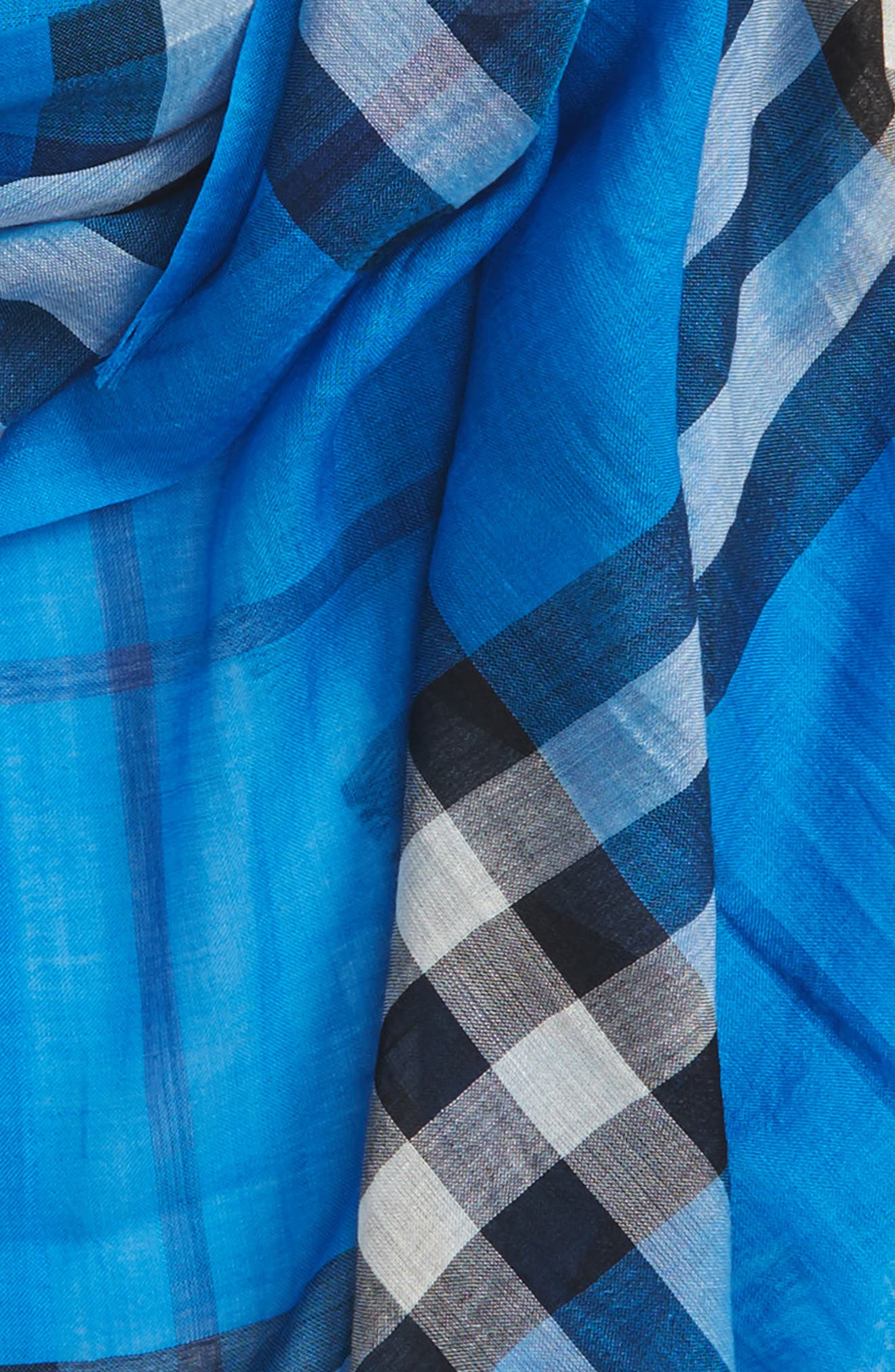 Giant Check Print Wool & Silk Scarf,                             Alternate thumbnail 133, color,