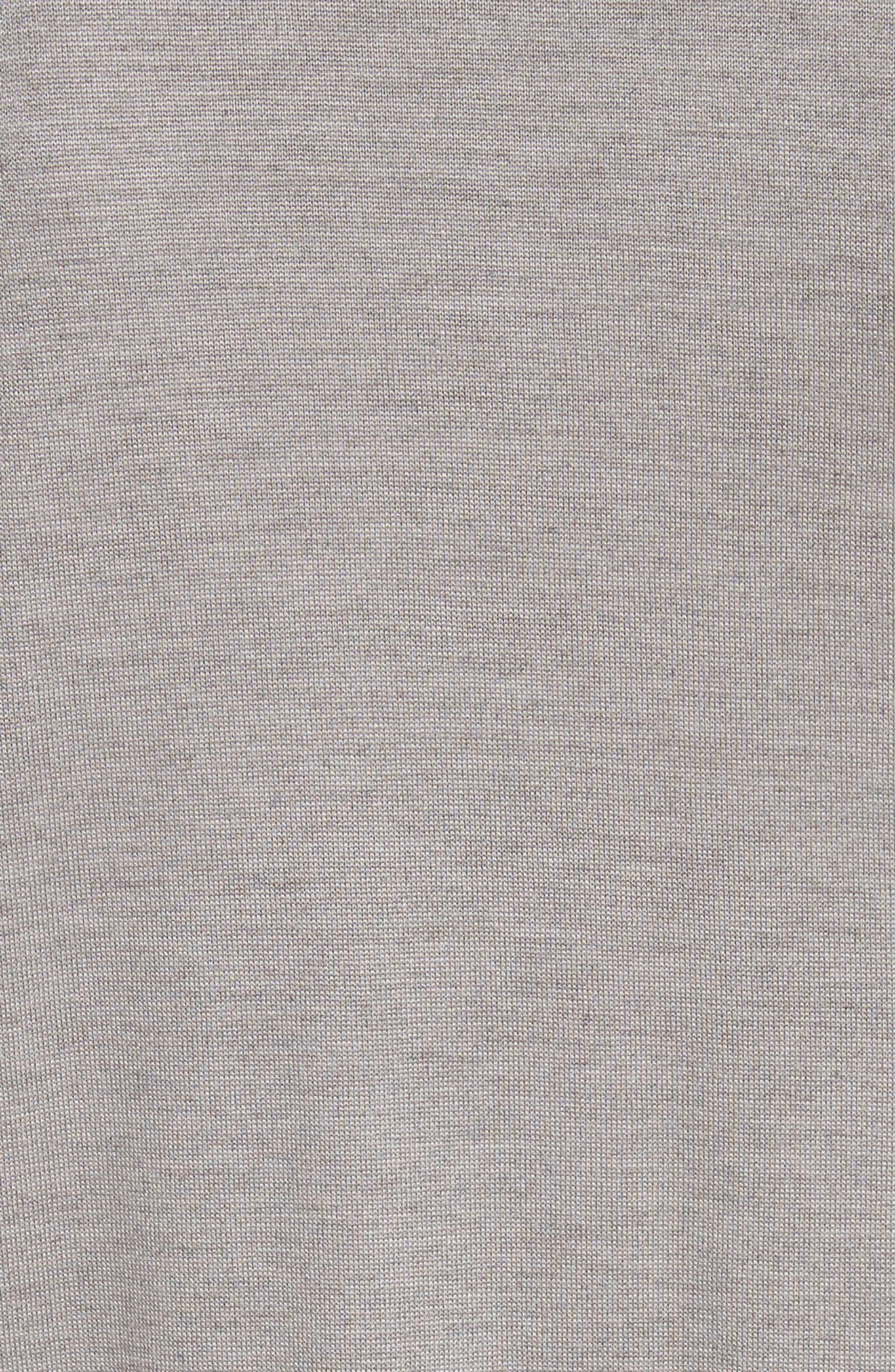 Silk Georgette & Jersey Asymmetrical Blouse,                             Alternate thumbnail 5, color,                             100