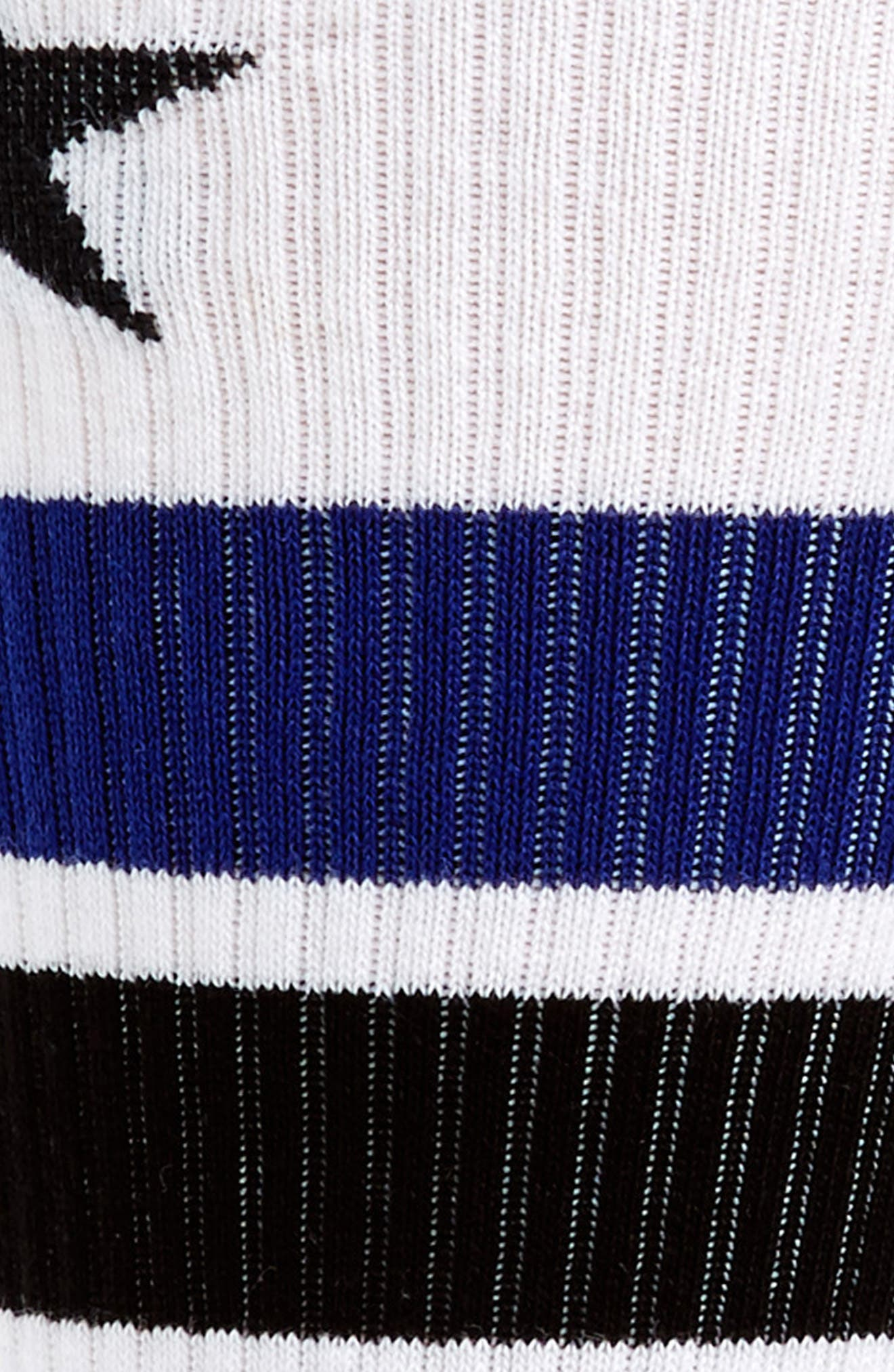 Logo Stripe Socks,                             Alternate thumbnail 2, color,                             WHITE/ BLUE