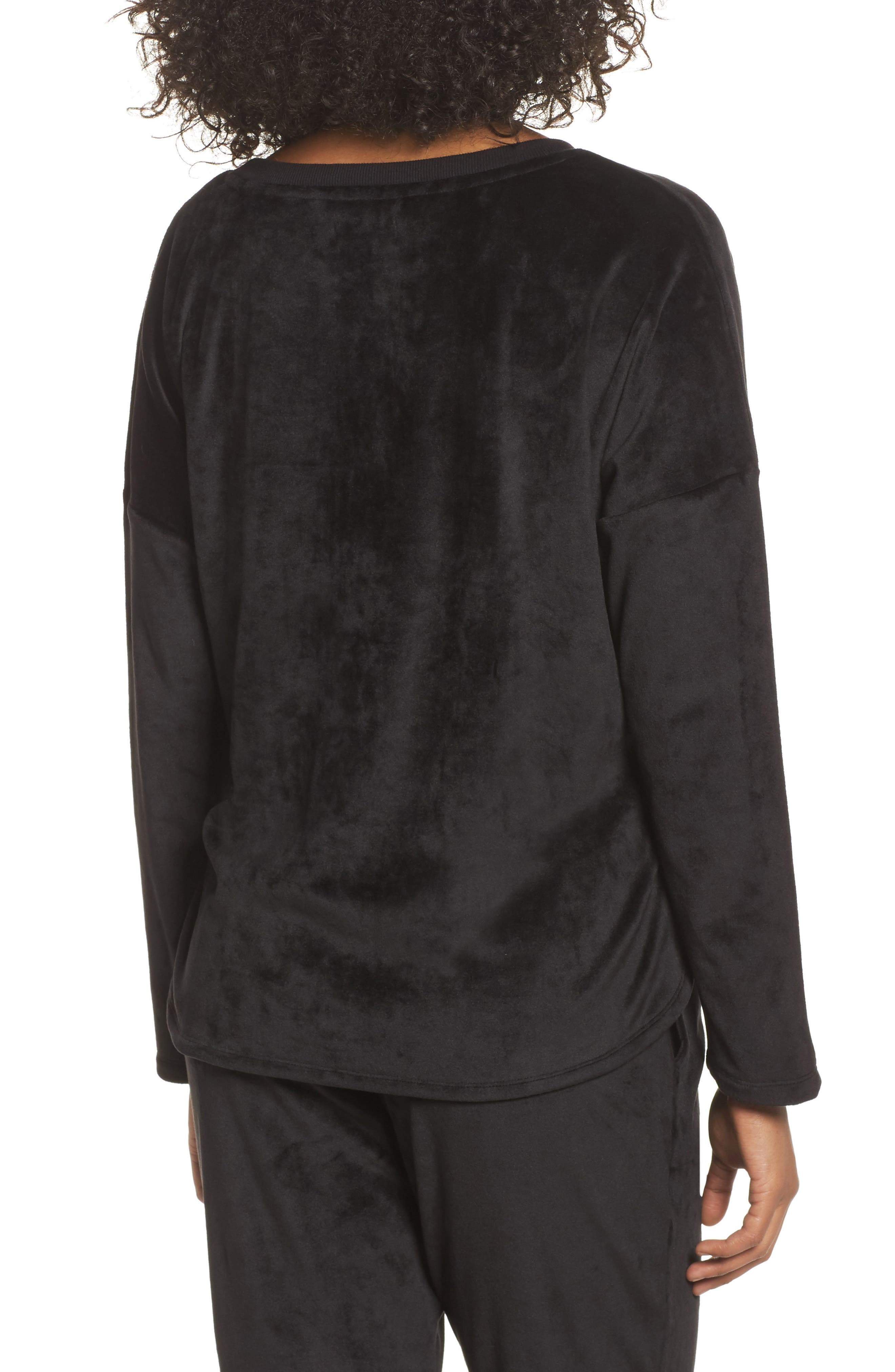Luxury Plush Sweatshirt,                             Alternate thumbnail 2, color,                             001