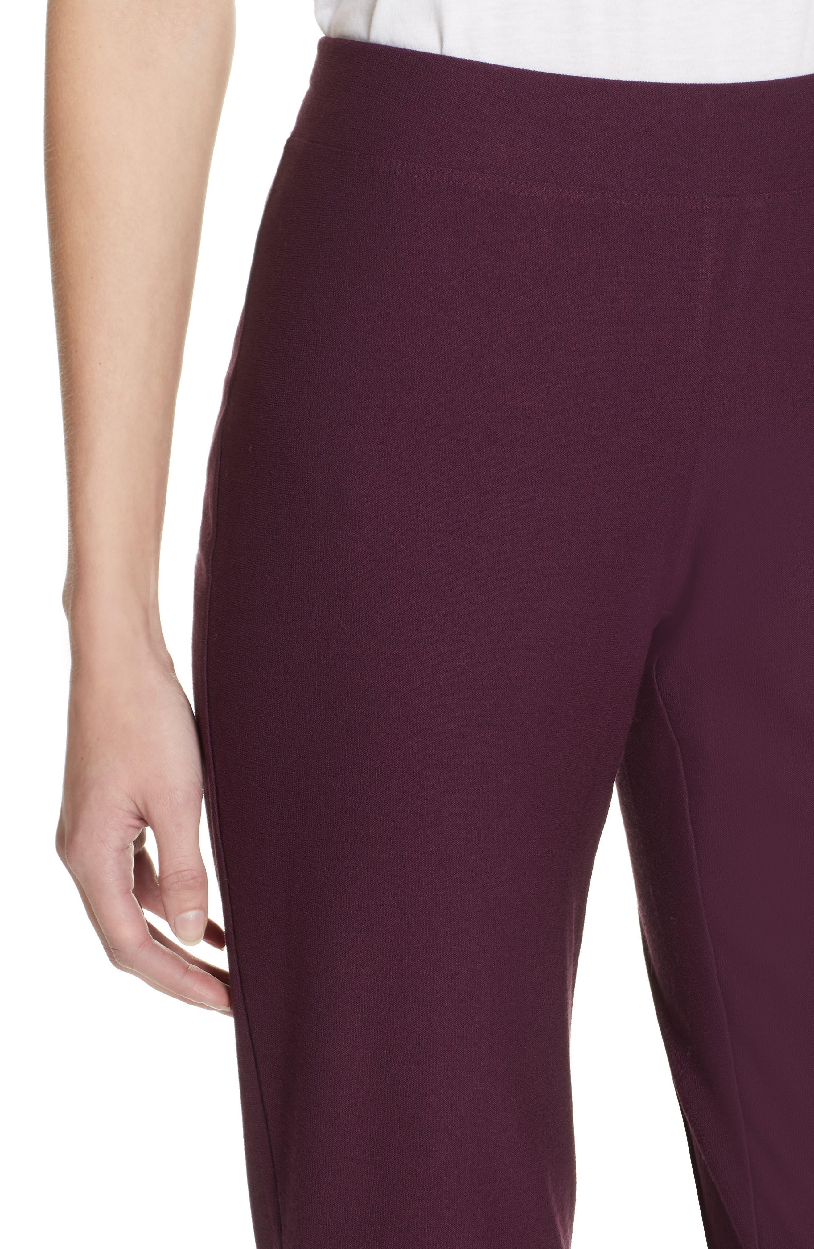Stretch Crepe Slim Ankle Pants,                             Alternate thumbnail 4, color,                             RAISONETTE