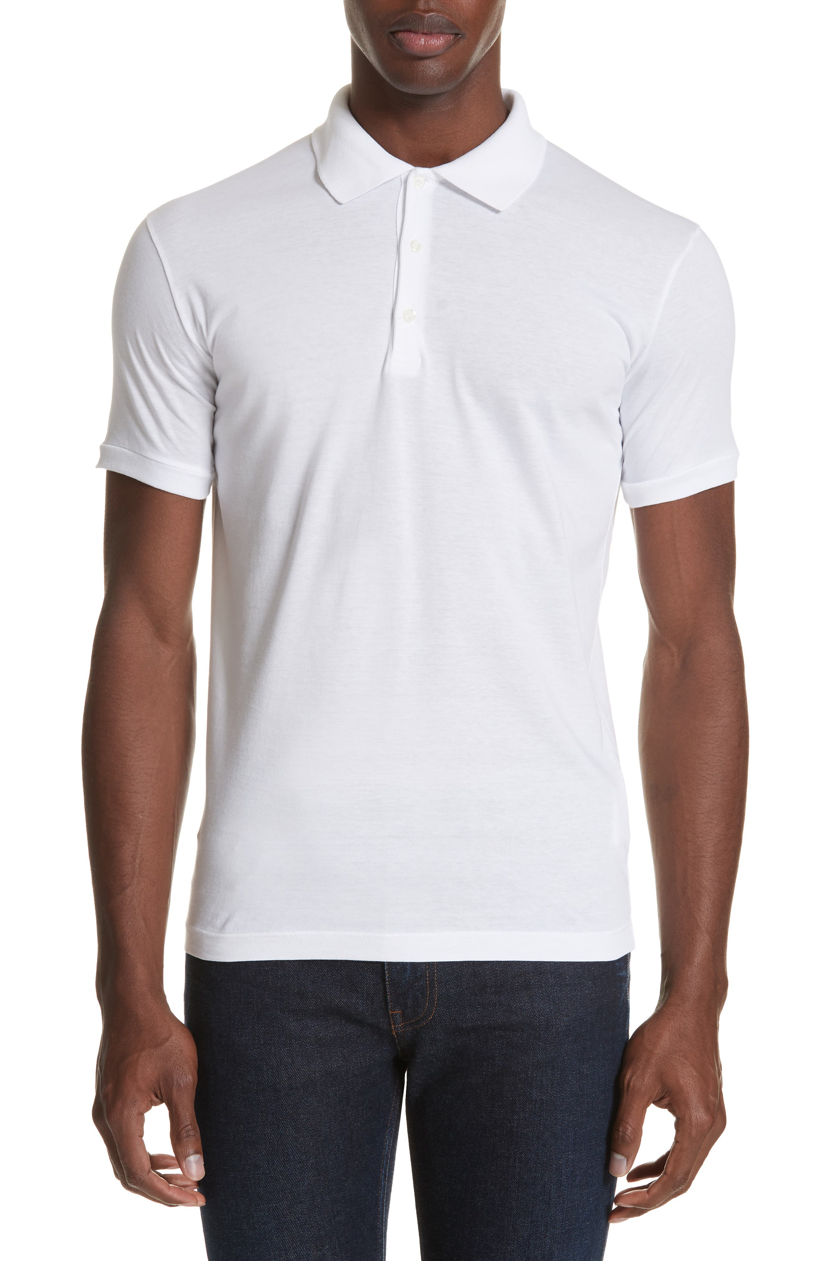 Solid Polo,                             Main thumbnail 1, color,                             WHITE