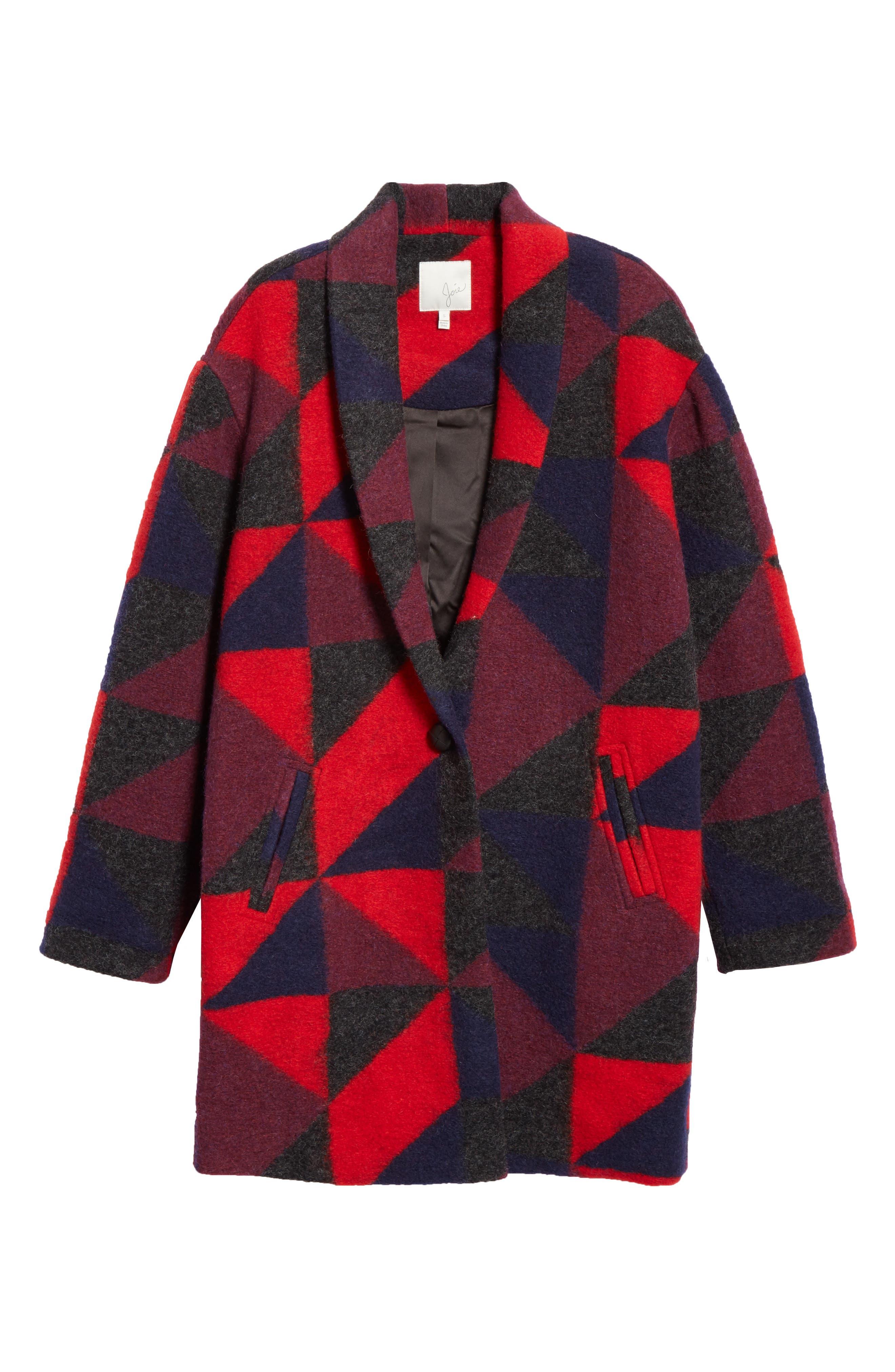 Halona Blanket Coat,                             Alternate thumbnail 6, color,                             002
