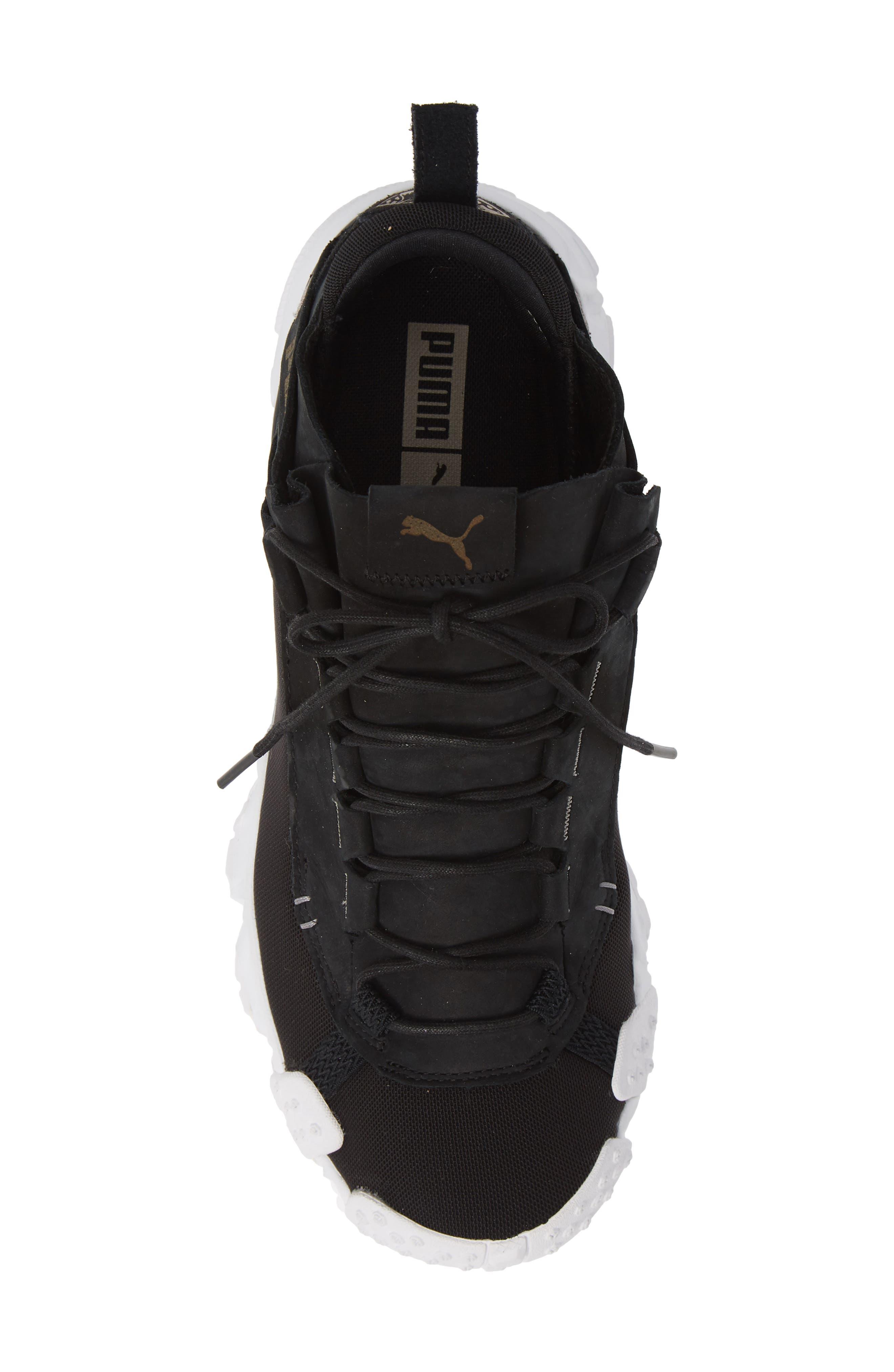 Trailfox Sneaker,                             Alternate thumbnail 5, color,                             BLACK/ WHITE