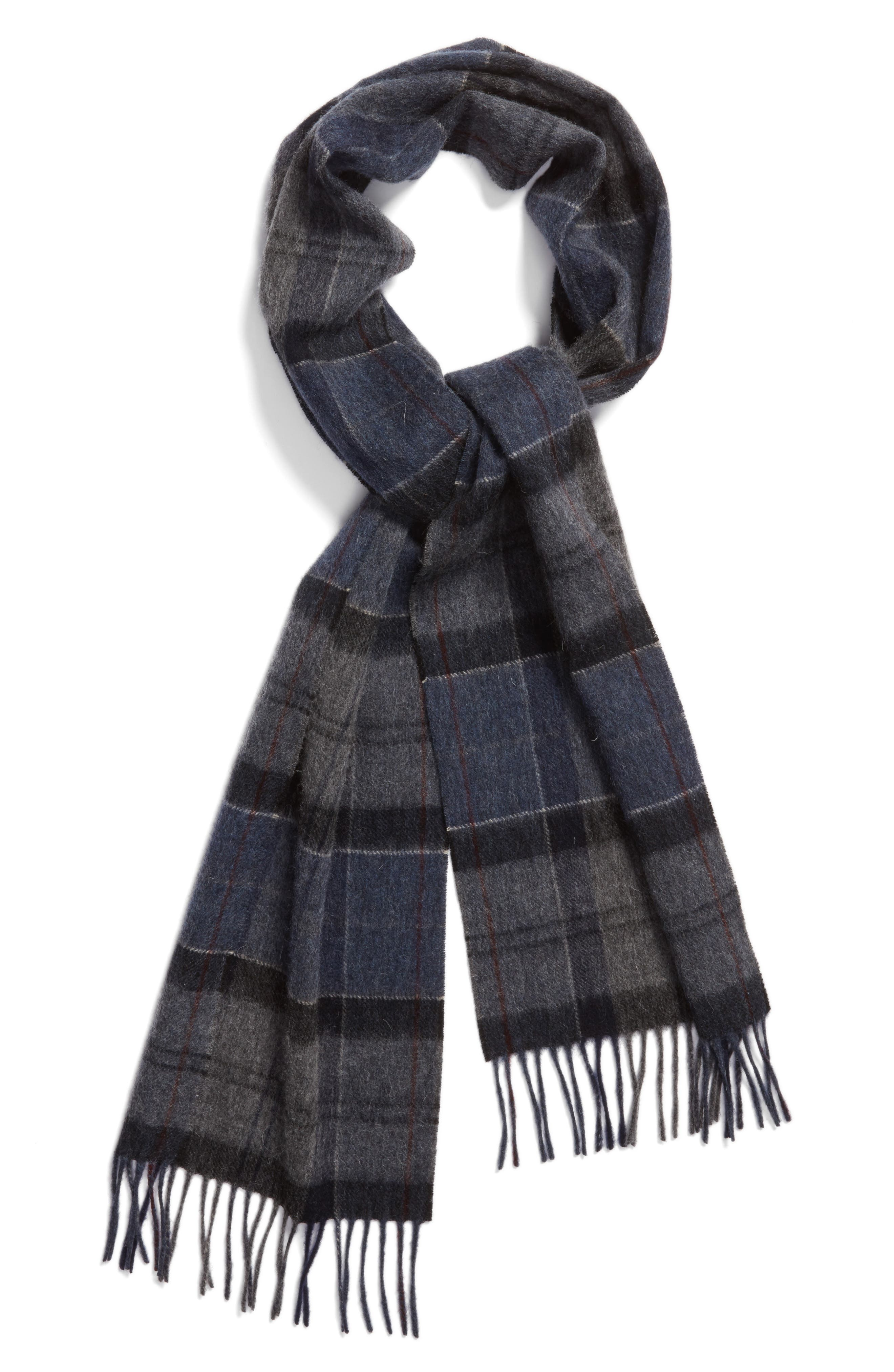 Tartan Plaid Wool & Cashmere Scarf,                             Alternate thumbnail 2, color,                             410