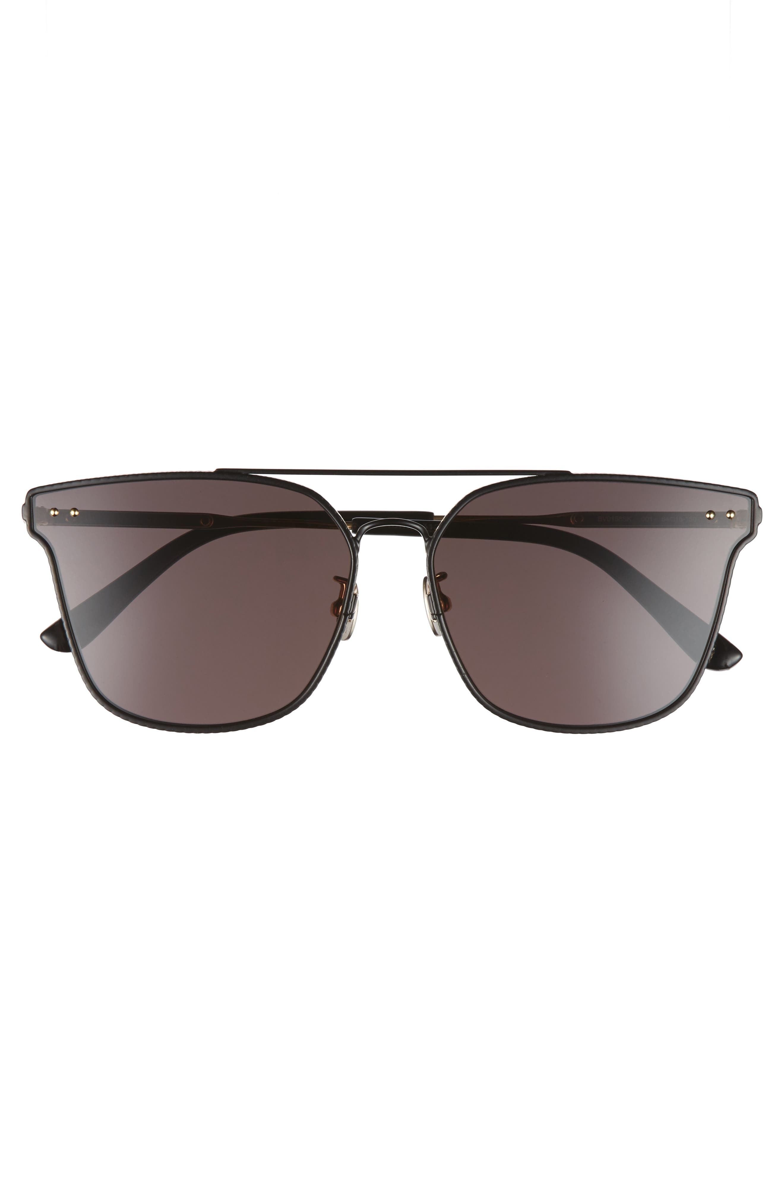 64mm Sunglasses,                             Alternate thumbnail 3, color,                             BLACK
