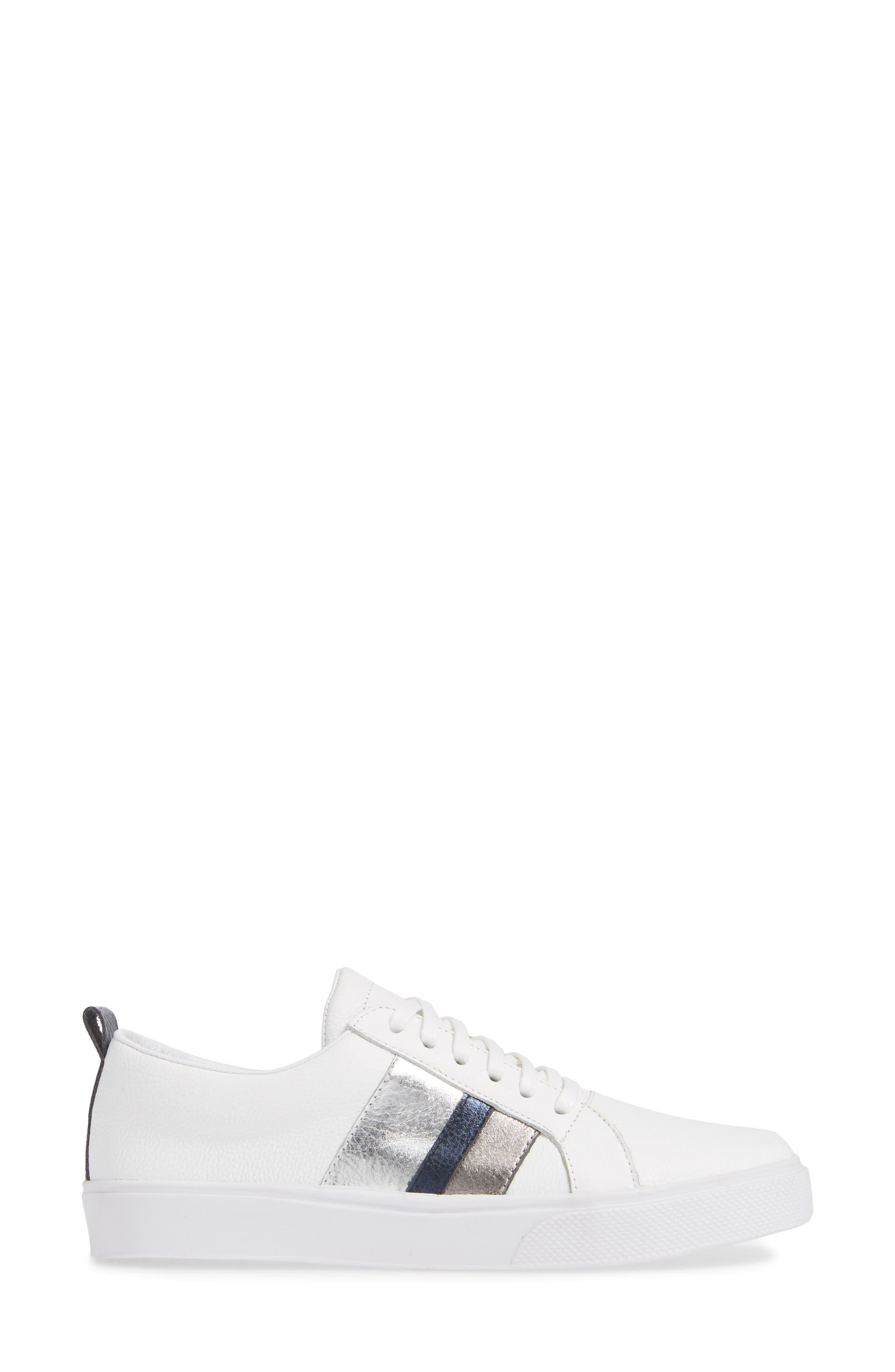 Bristol Sneaker,                             Alternate thumbnail 3, color,                             BLUE LEATHER