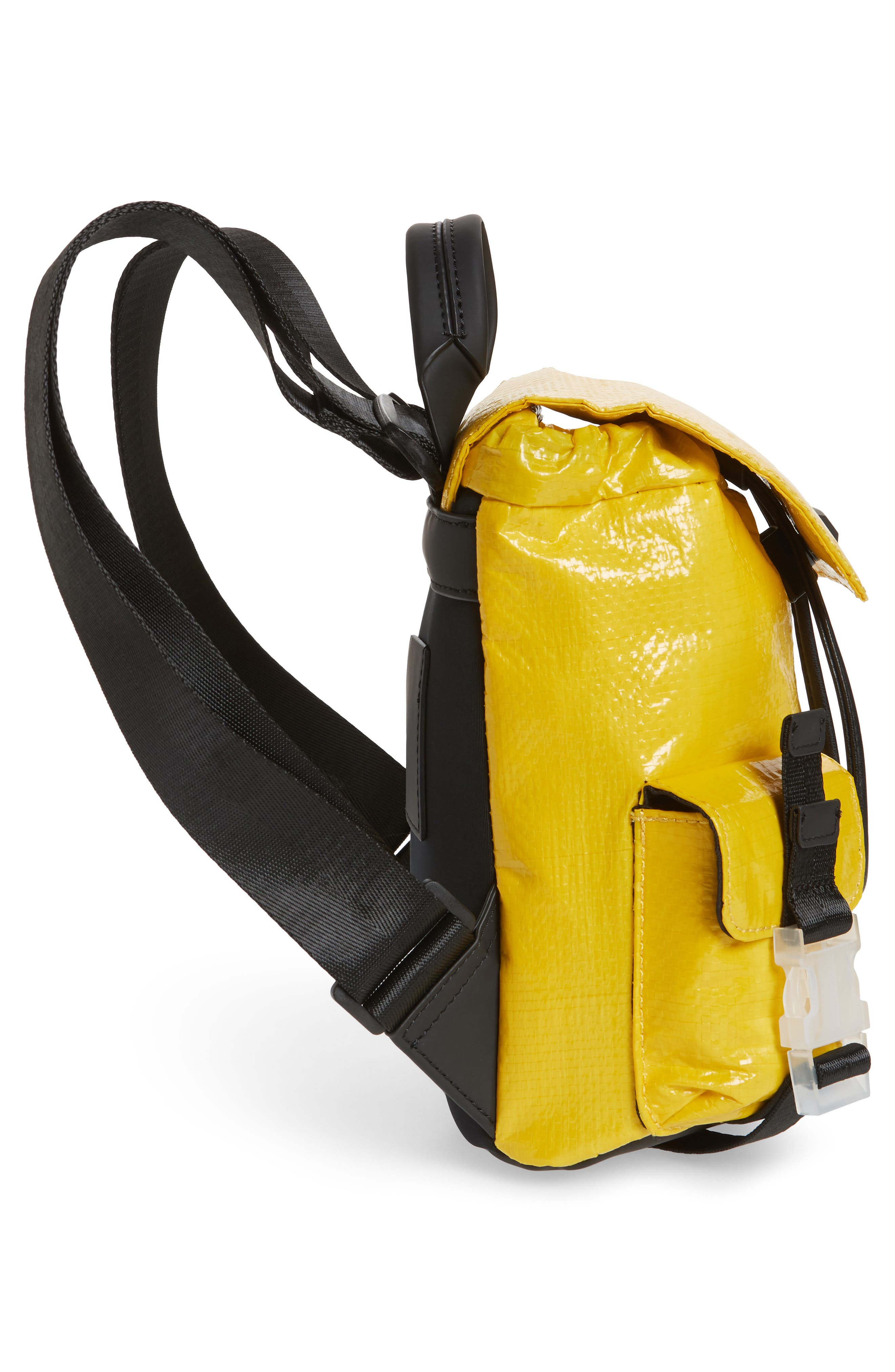 Mini Parker Water Resistant Backpack,                             Alternate thumbnail 5, color,                             YELLOW