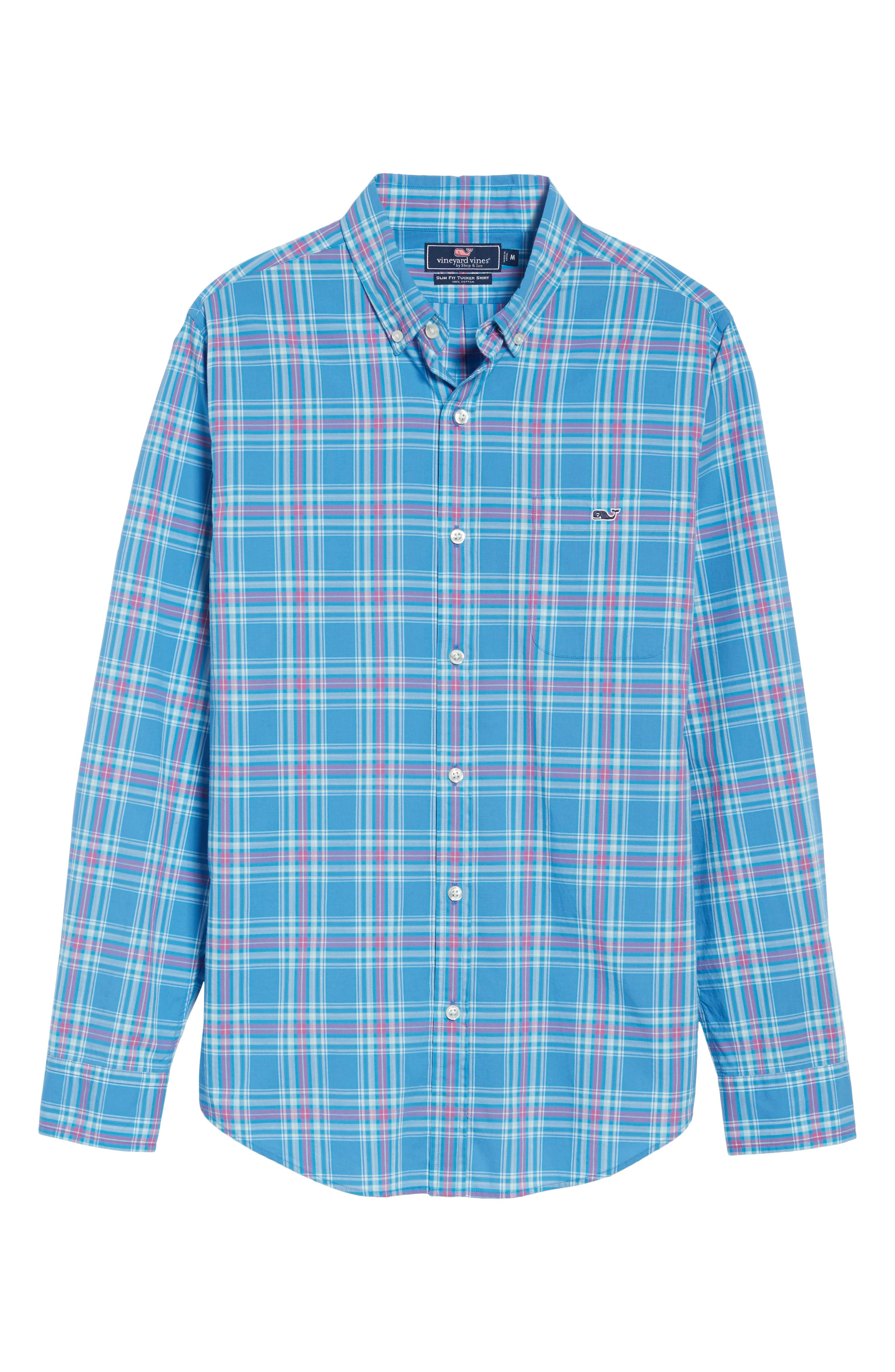 Pelon Plaid Tucker Slim Fit Sport Shirt,                             Alternate thumbnail 6, color,                             496