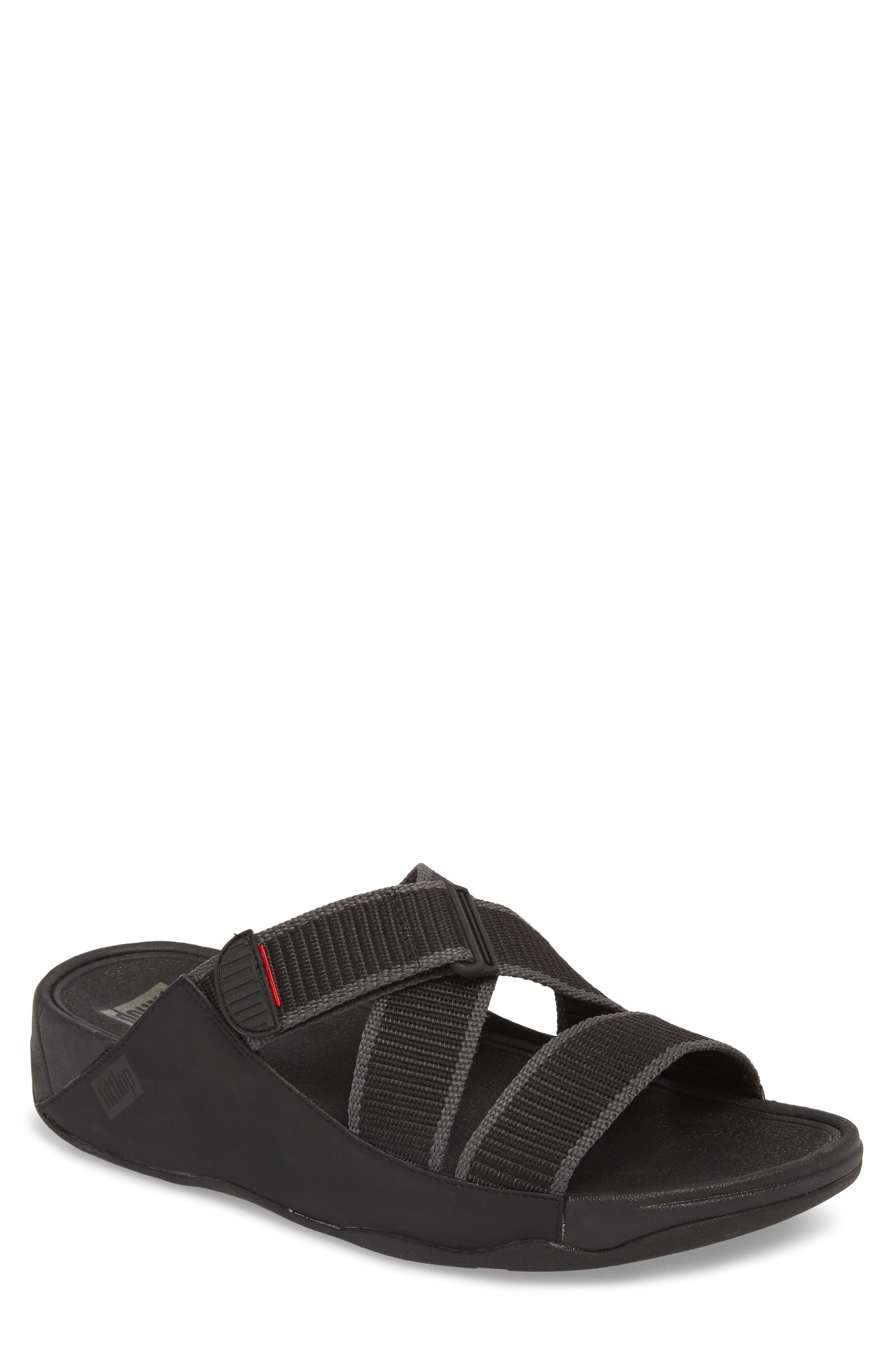 Sling II Slide Sandal,                             Main thumbnail 1, color,                             BLACK/ DARK SHADOW
