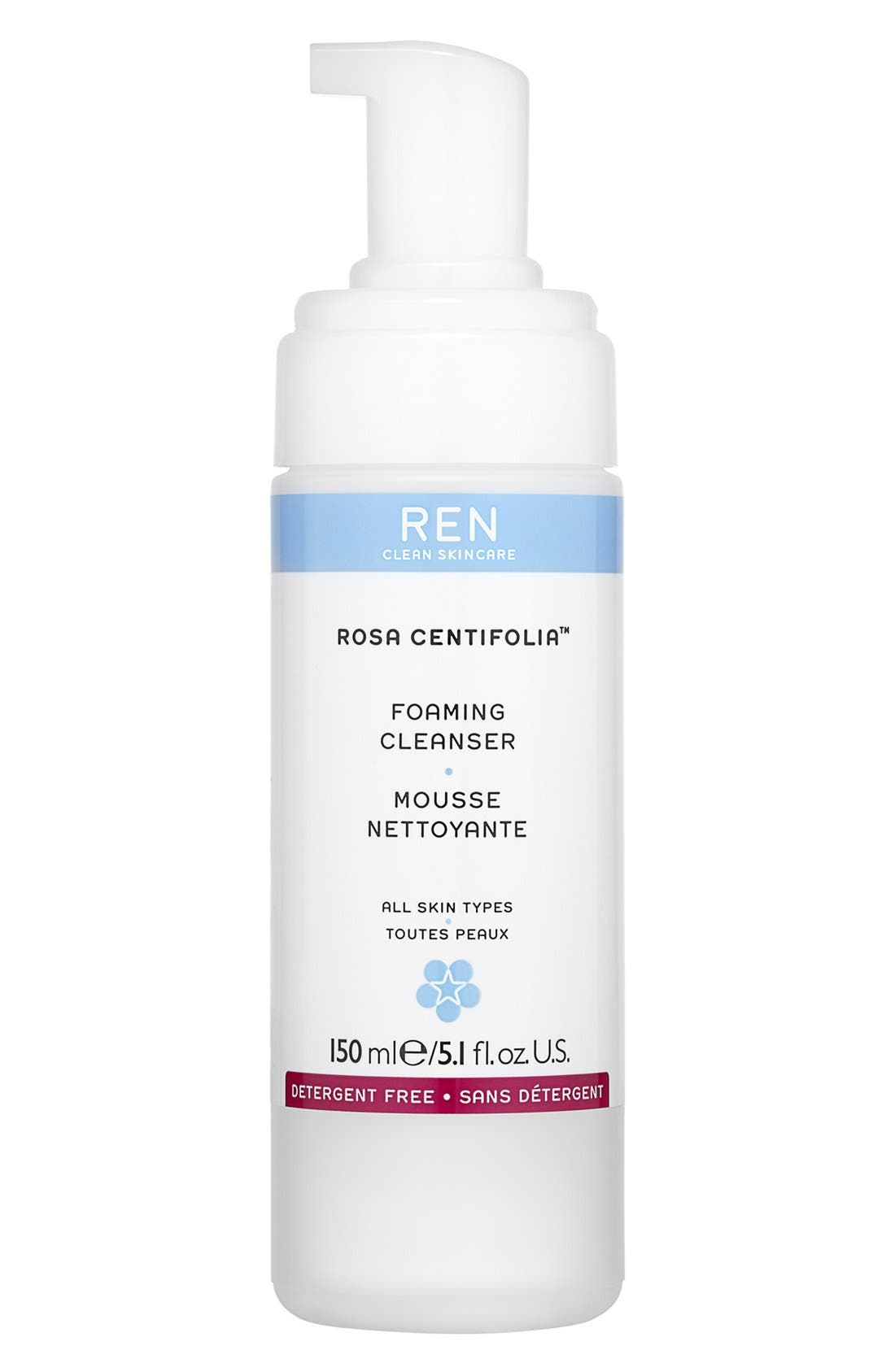 SPACE.NK.apothecary REN Rosa Centifolia<sup>™</sup> Foaming Cleanser,                             Main thumbnail 1, color,                             000