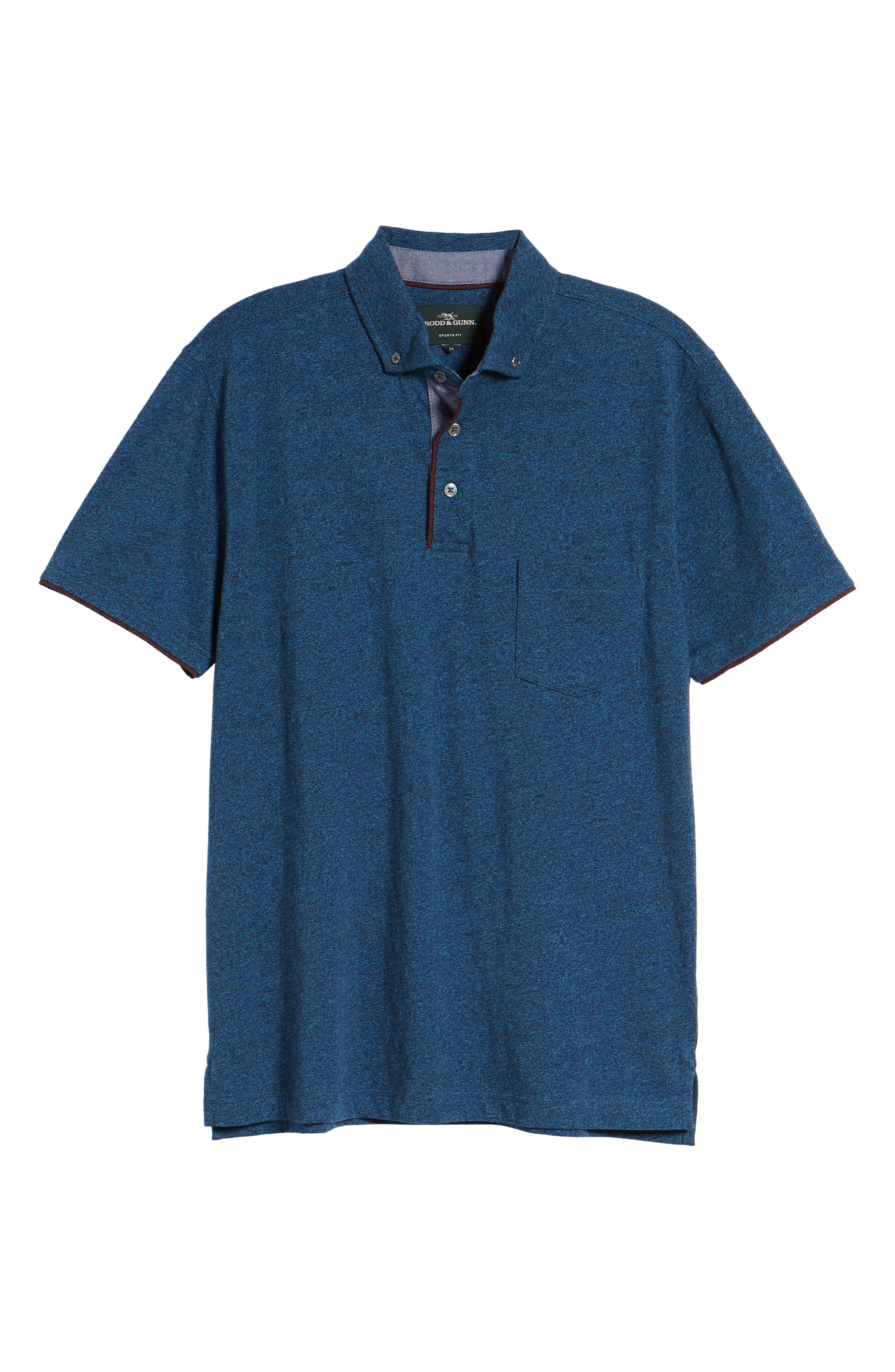 Haast Pass Button Down Polo,                             Alternate thumbnail 6, color,                             NAVY