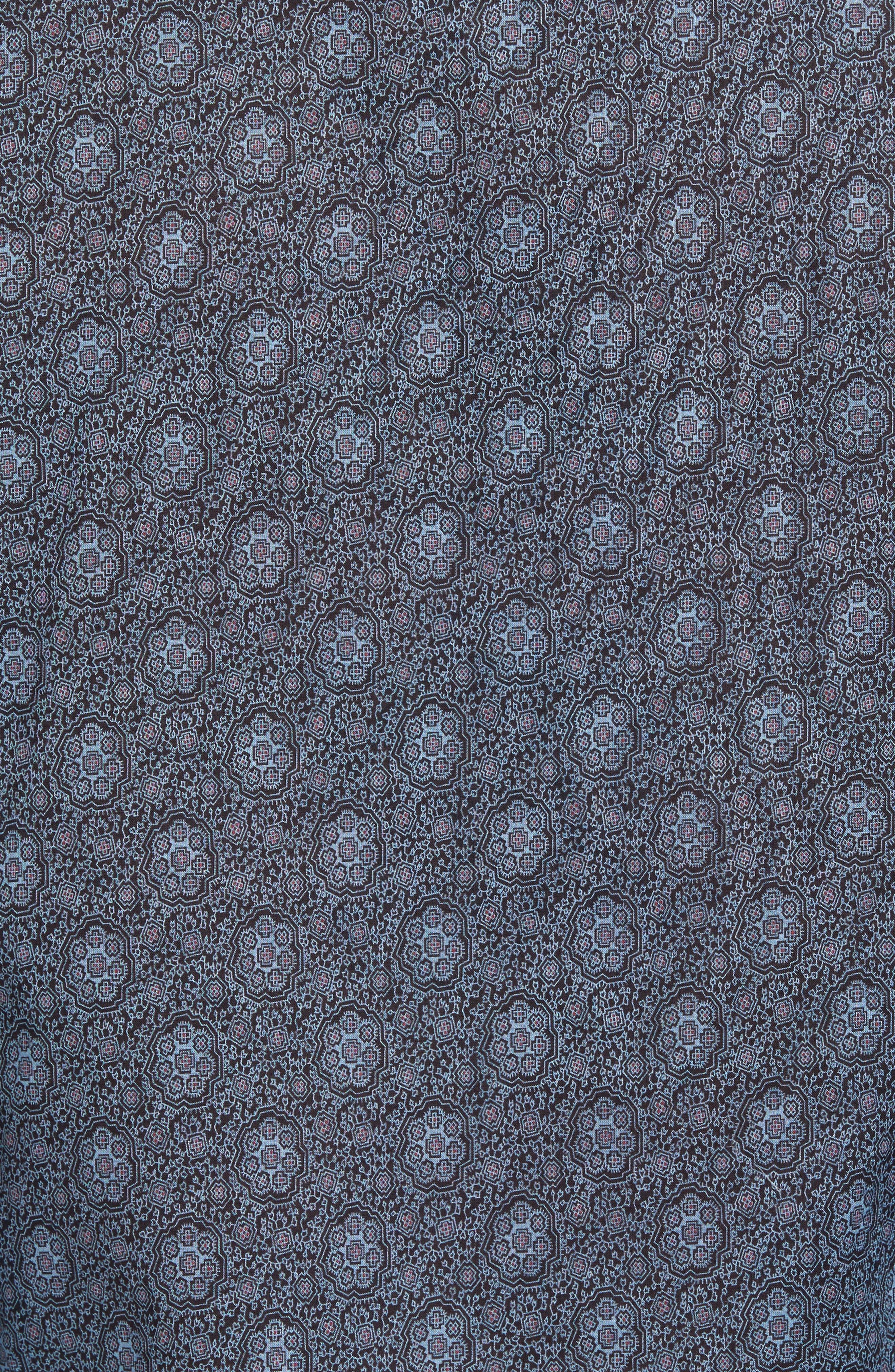Slim Fit Mosaic Print Sport Shirt,                             Alternate thumbnail 5, color,                             414