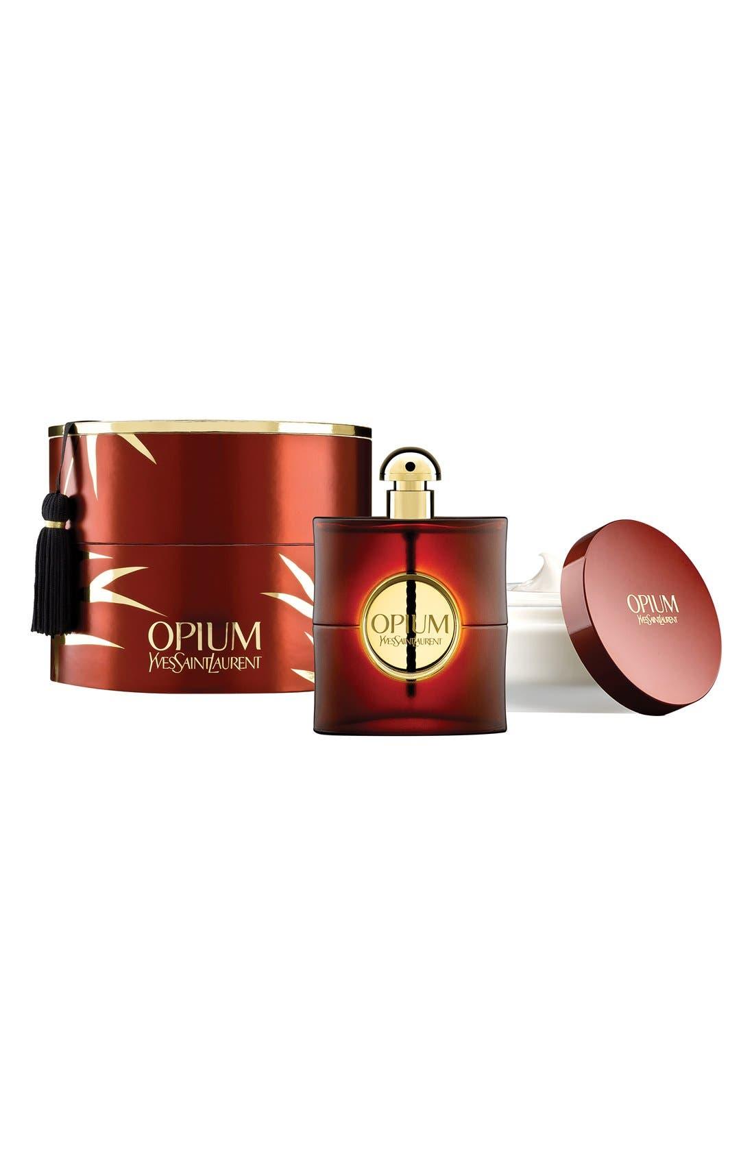Opium Eau de Parfum & Body Cream Set,                             Main thumbnail 1, color,