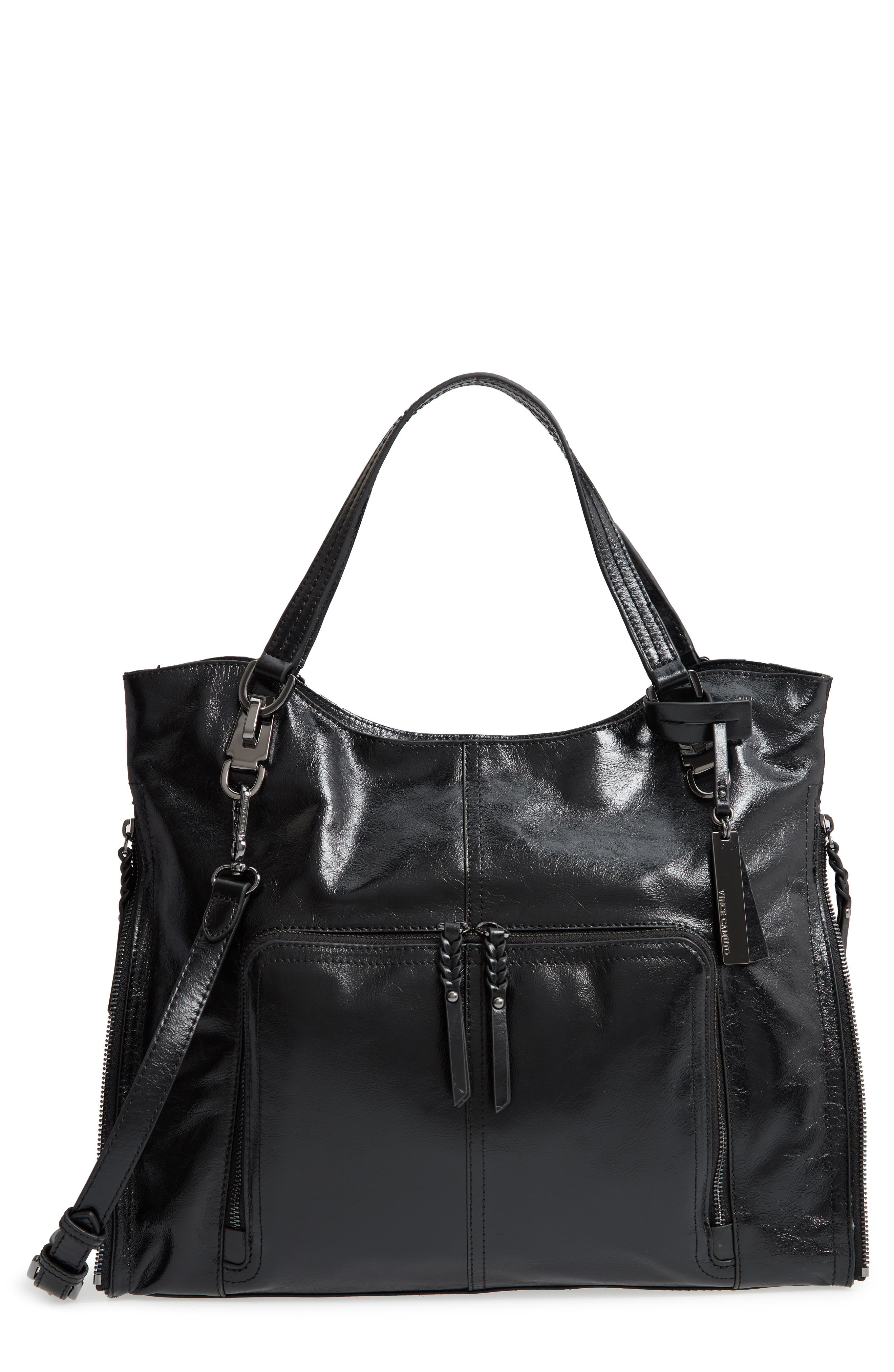 VINCE CAMUTO Narra Leather Tote, Main, color, 002
