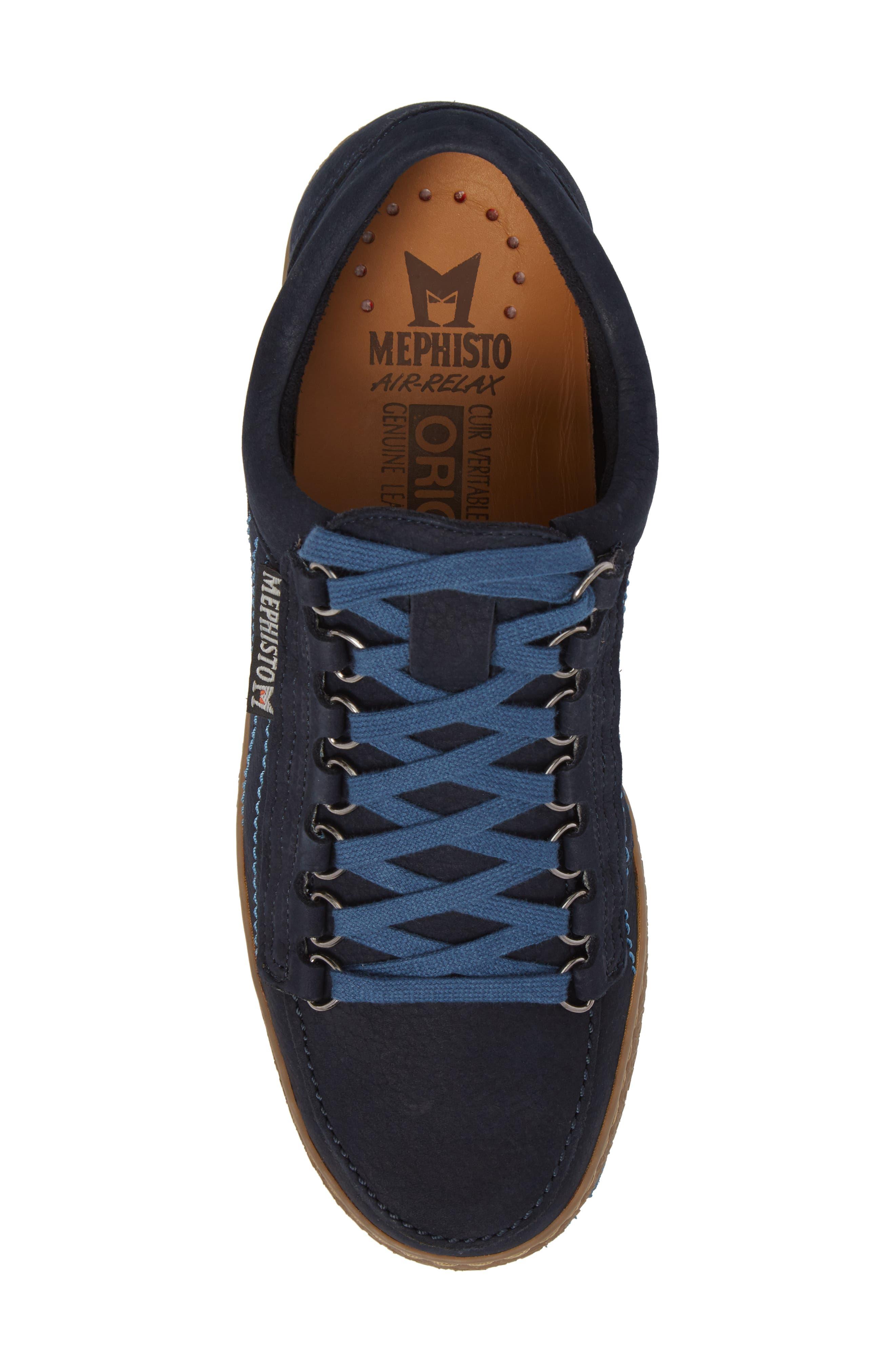 Rainbow Sneaker,                             Alternate thumbnail 5, color,                             NAVY BLUE SUEDE