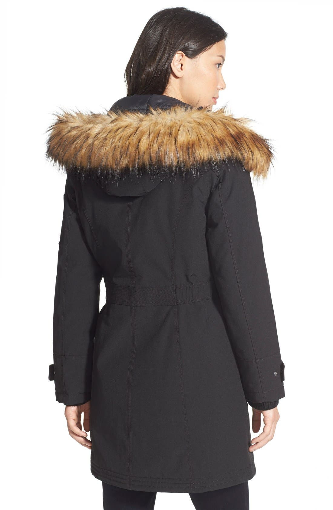 'Expedition' Faux Fur Trim Parka,                             Alternate thumbnail 3, color,                             001