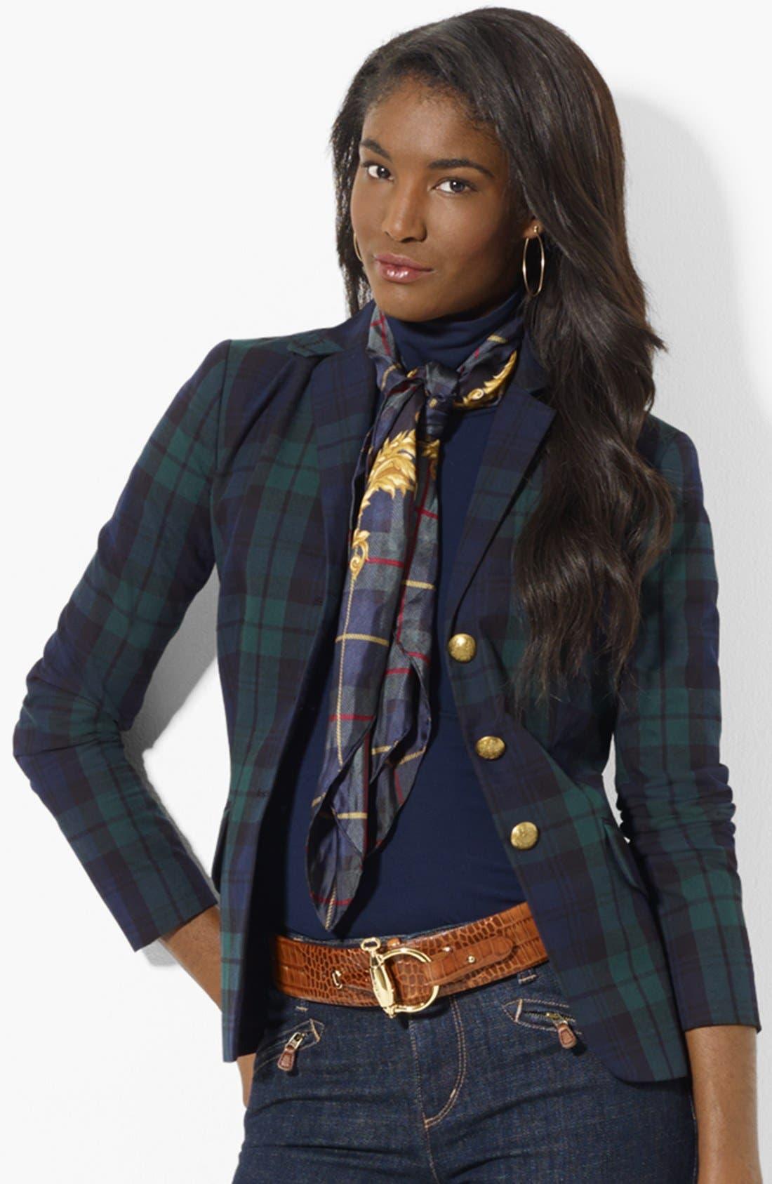 Plaid Riding Jacket, Main, color, 450