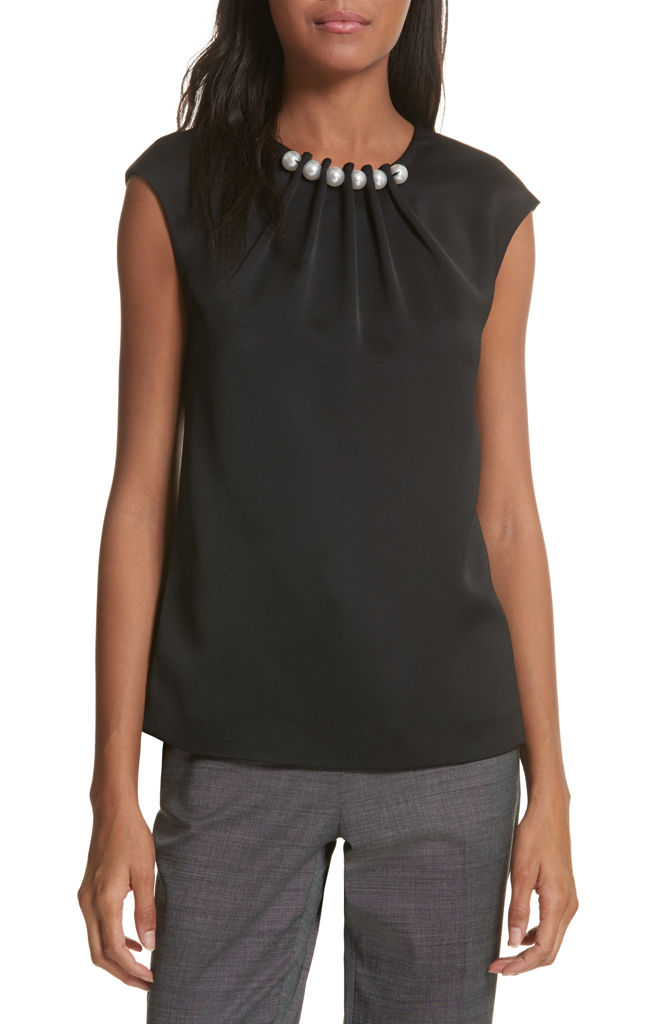 Embellished Neck Top,                         Main,                         color,