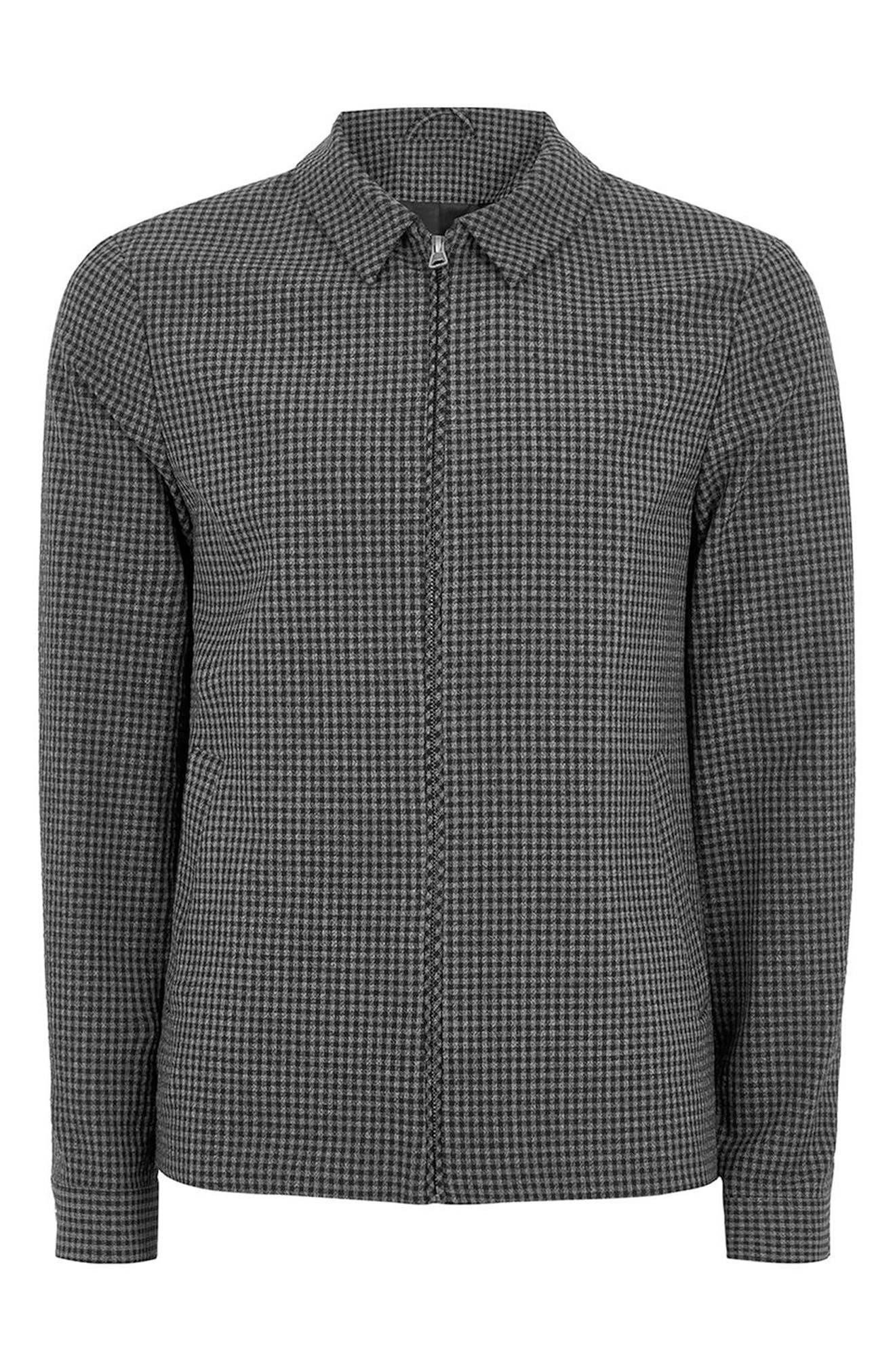 Gingham Harrington Jacket,                             Alternate thumbnail 3, color,                             020