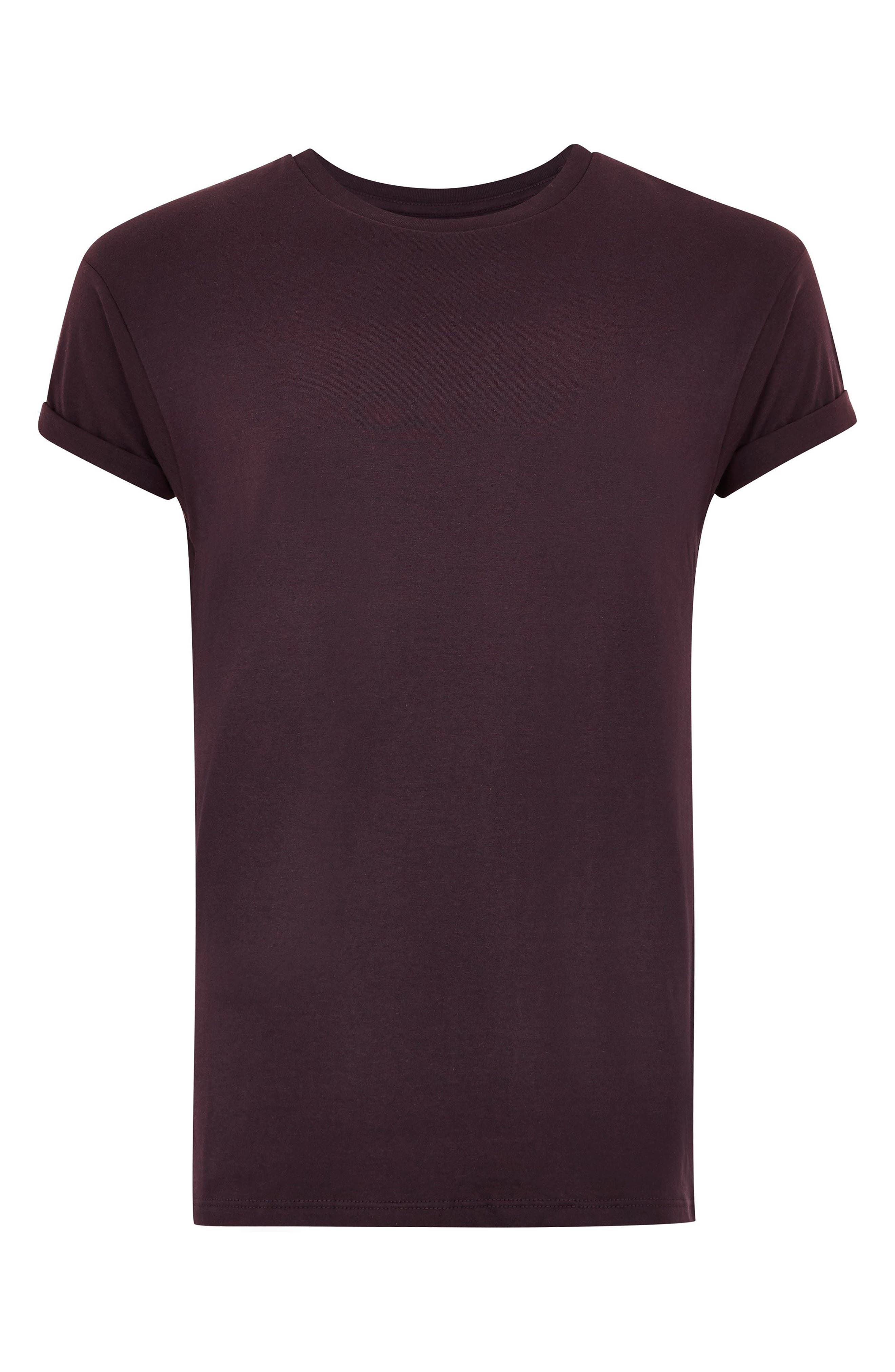 Muscle Fit Roller T-Shirt,                             Alternate thumbnail 4, color,                             PURPLE