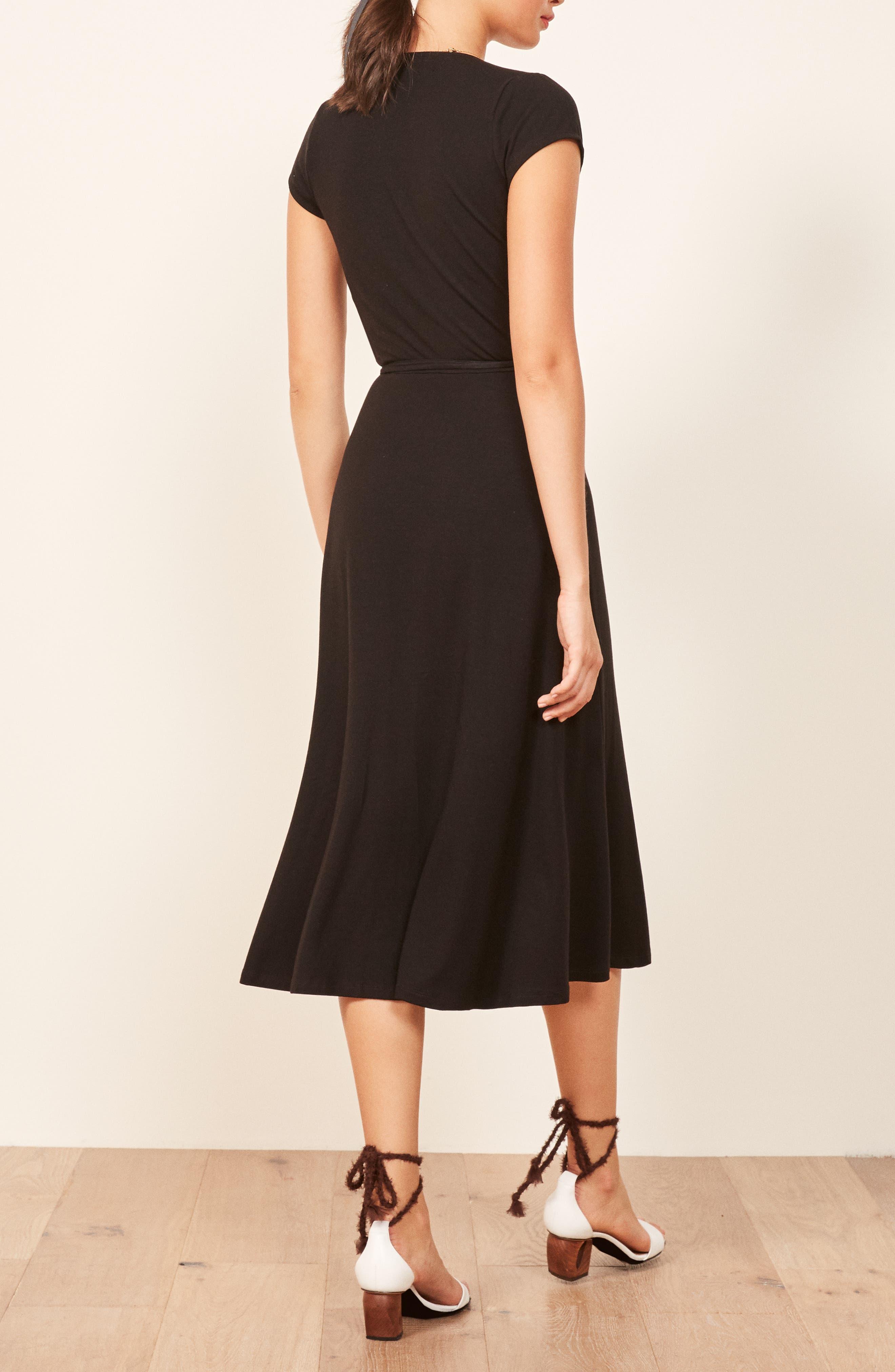 Becca Midi Dress,                             Alternate thumbnail 3, color,                             001