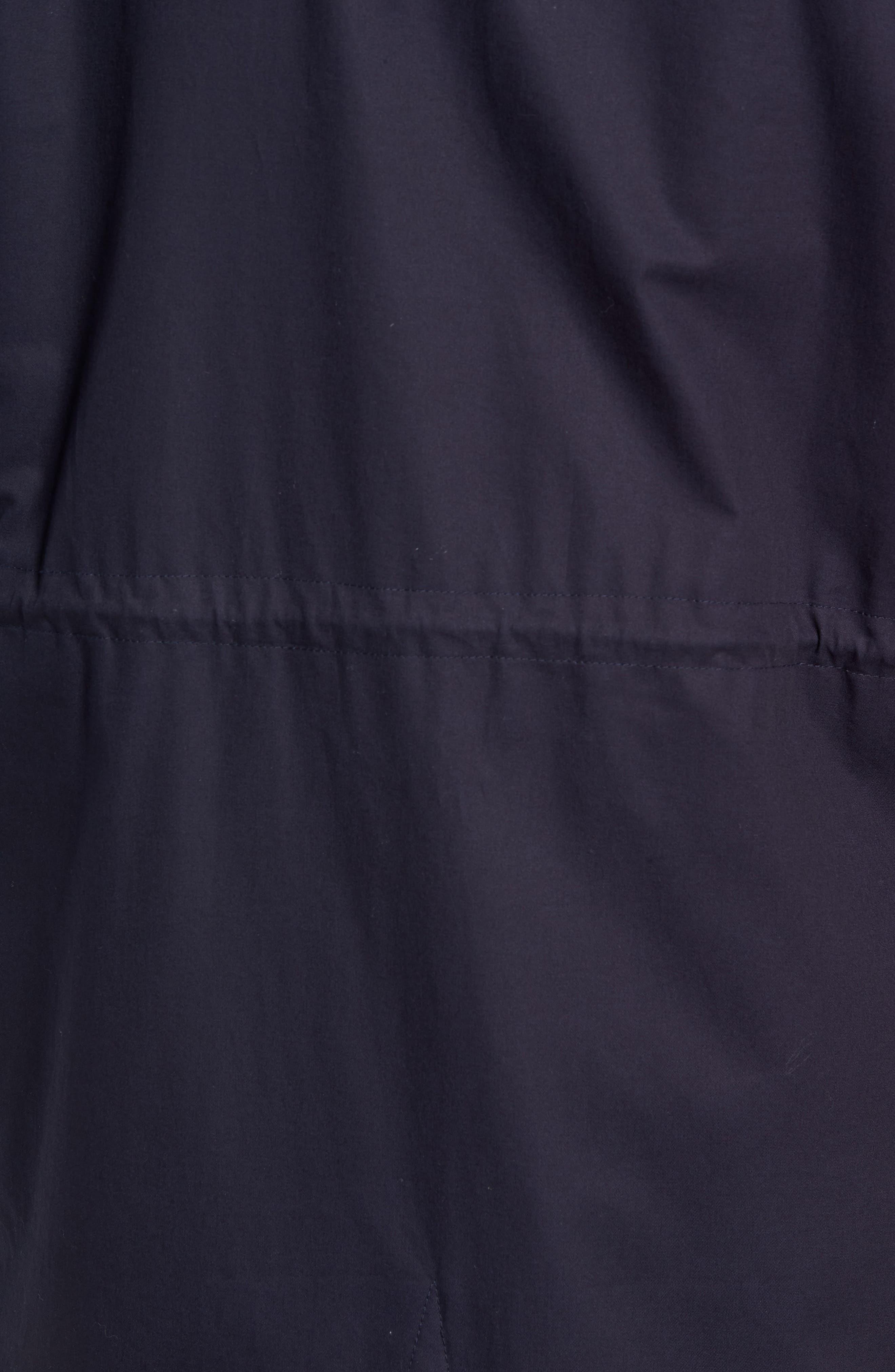 Fleece Lined Hooded Parka,                             Alternate thumbnail 6, color,                             NAVY