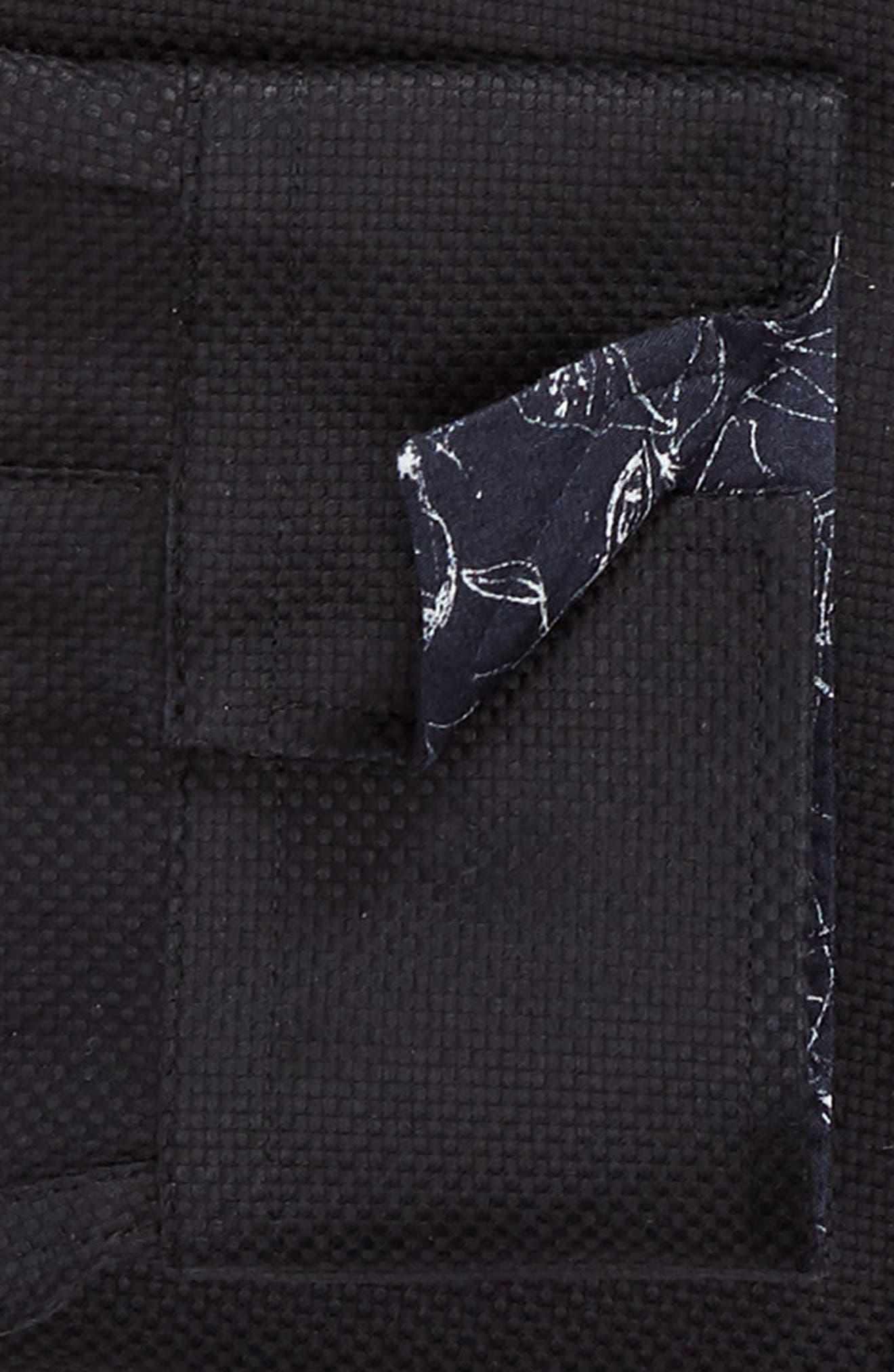 Leek Slim Fit Solid Dress Shirt,                             Alternate thumbnail 6, color,                             NAVY