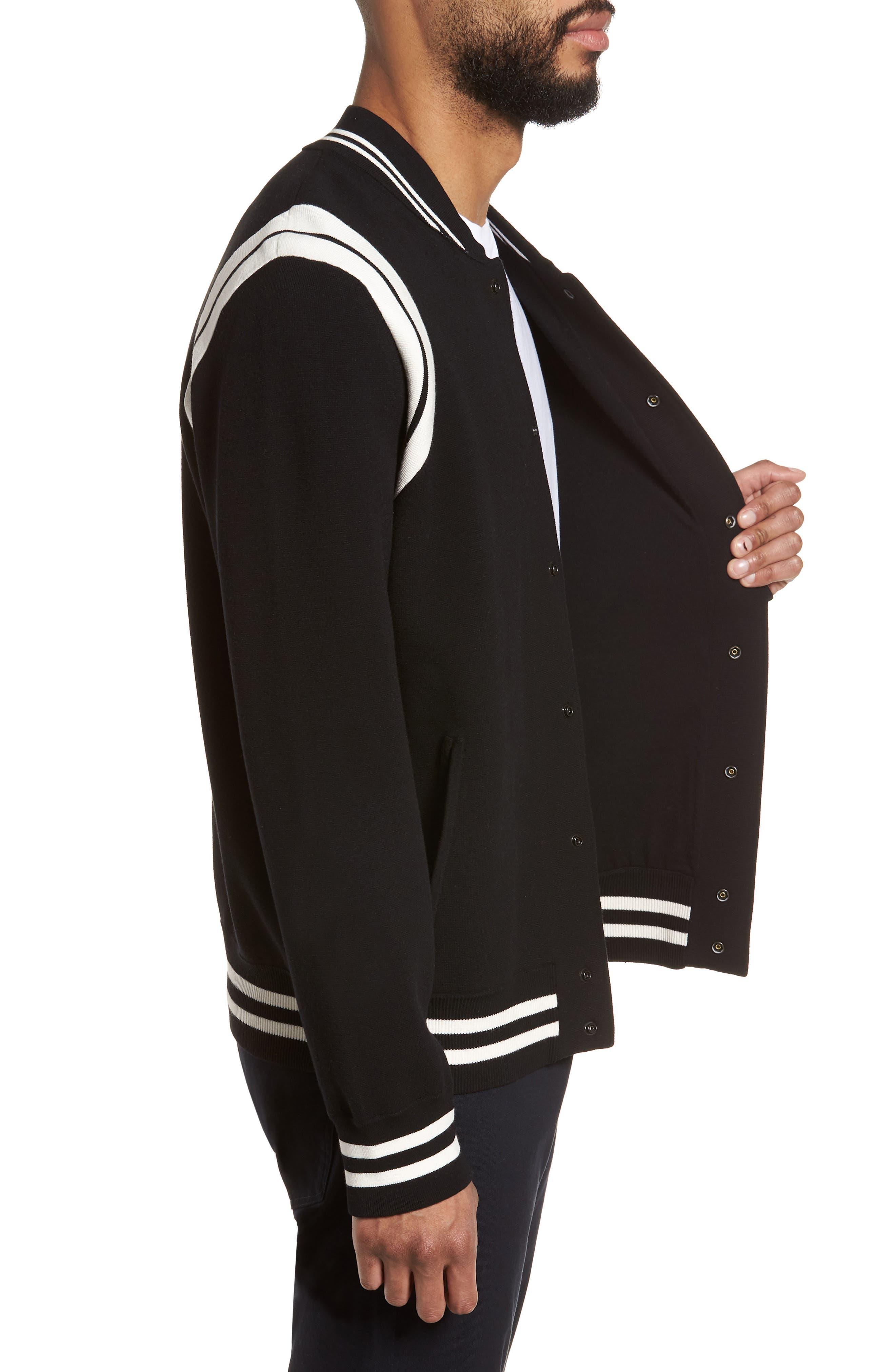 Varsity Regular Fit Jacket,                             Alternate thumbnail 3, color,                             001