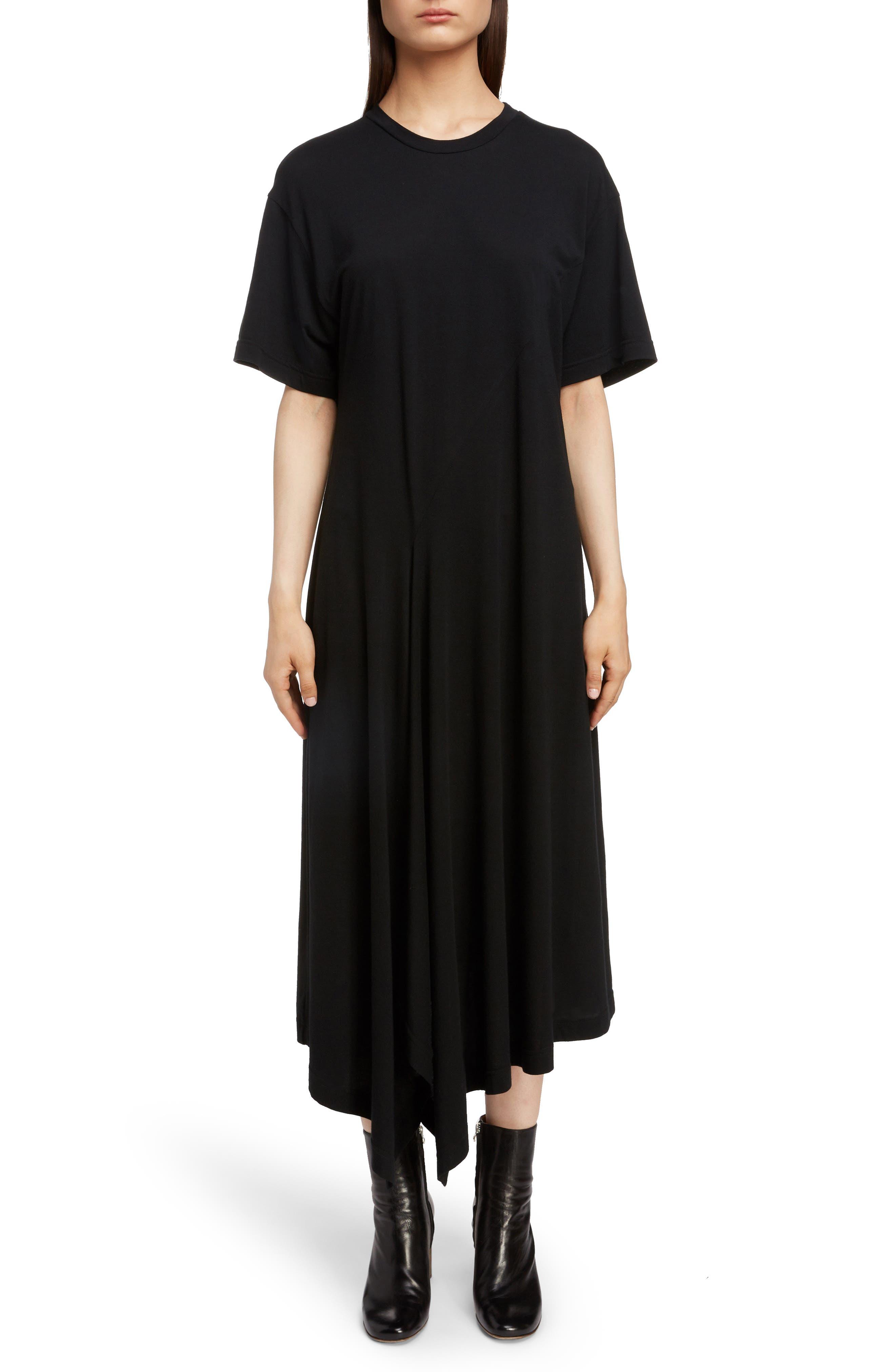 T-Shirt Dress,                             Main thumbnail 1, color,                             BLACK