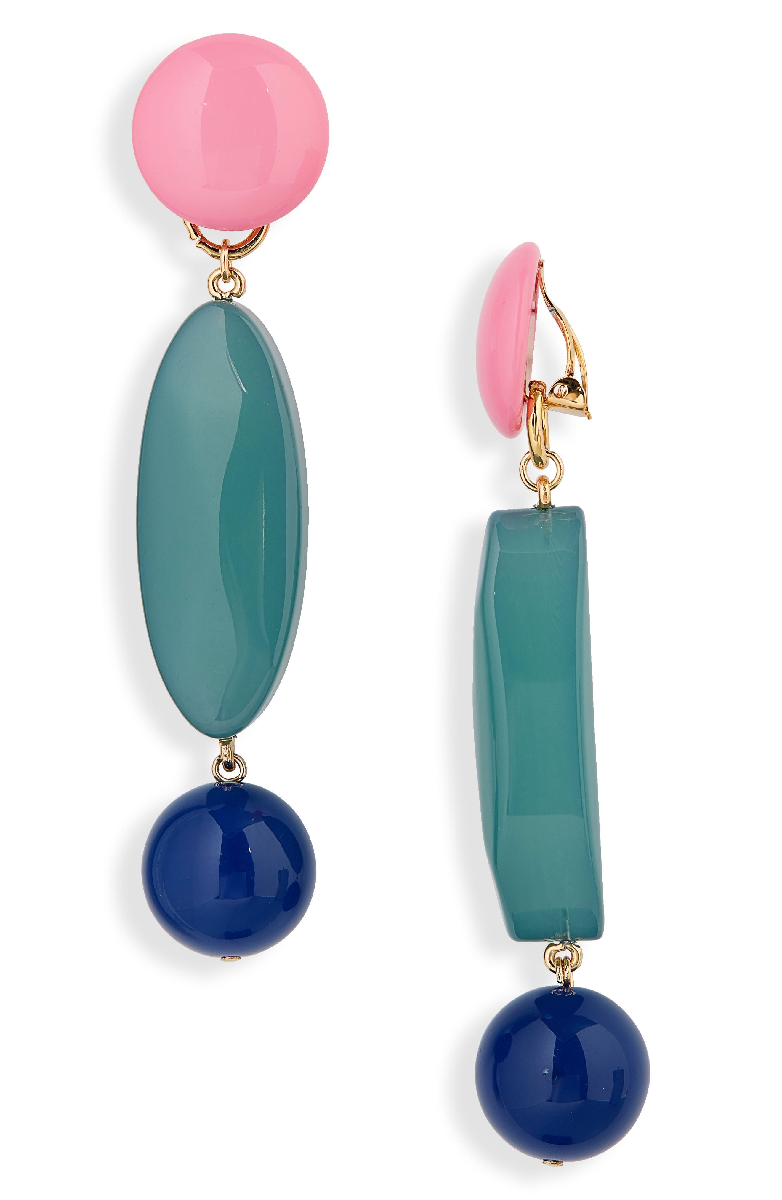 Roundoff Drop Earrings,                         Main,                         color, JADE LAPIS