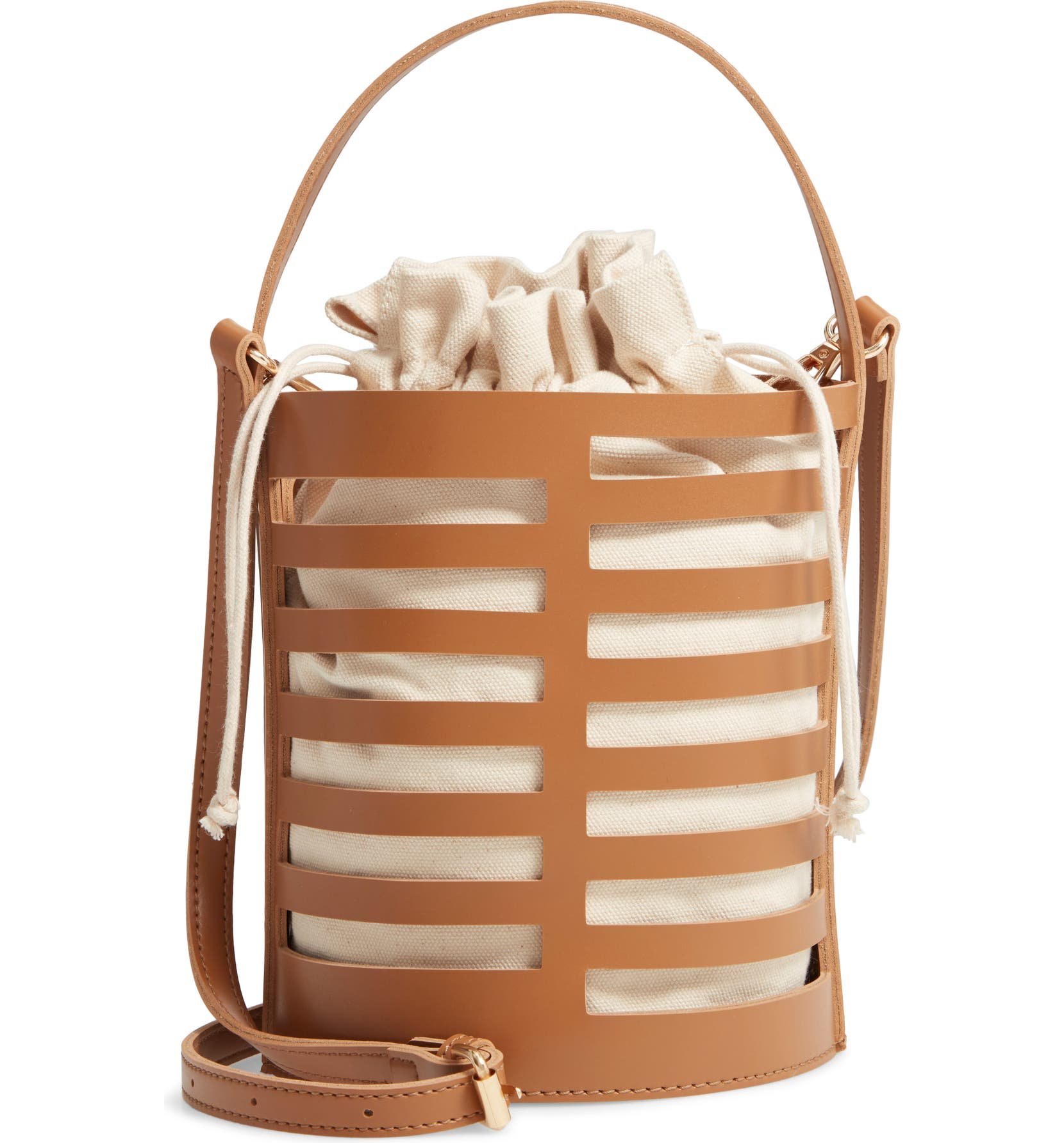 6e7f276e3e Emperia Cutout Round Bucket Crossbody Bag