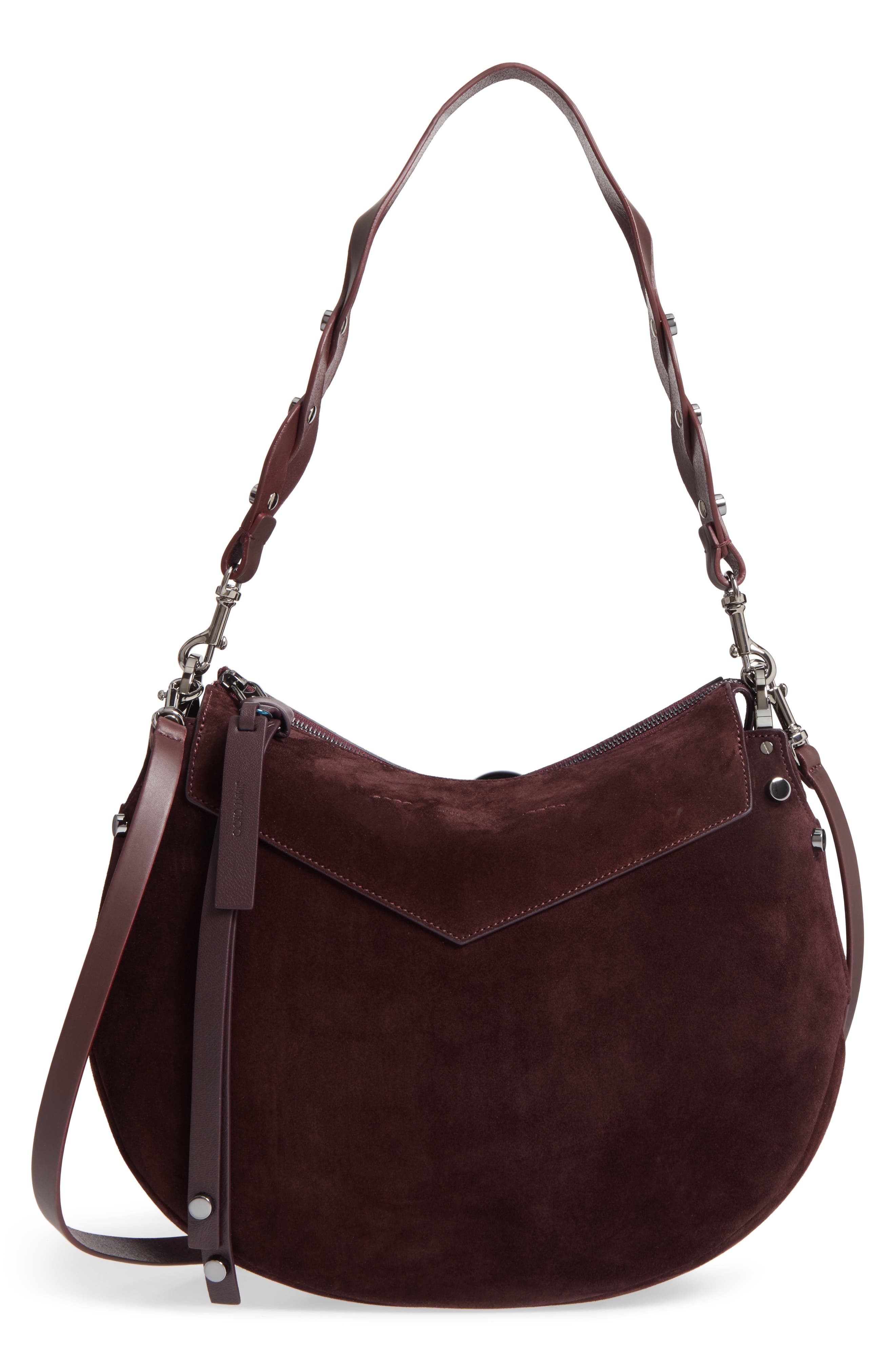Artie Suede Hobo Bag,                             Alternate thumbnail 8, color,