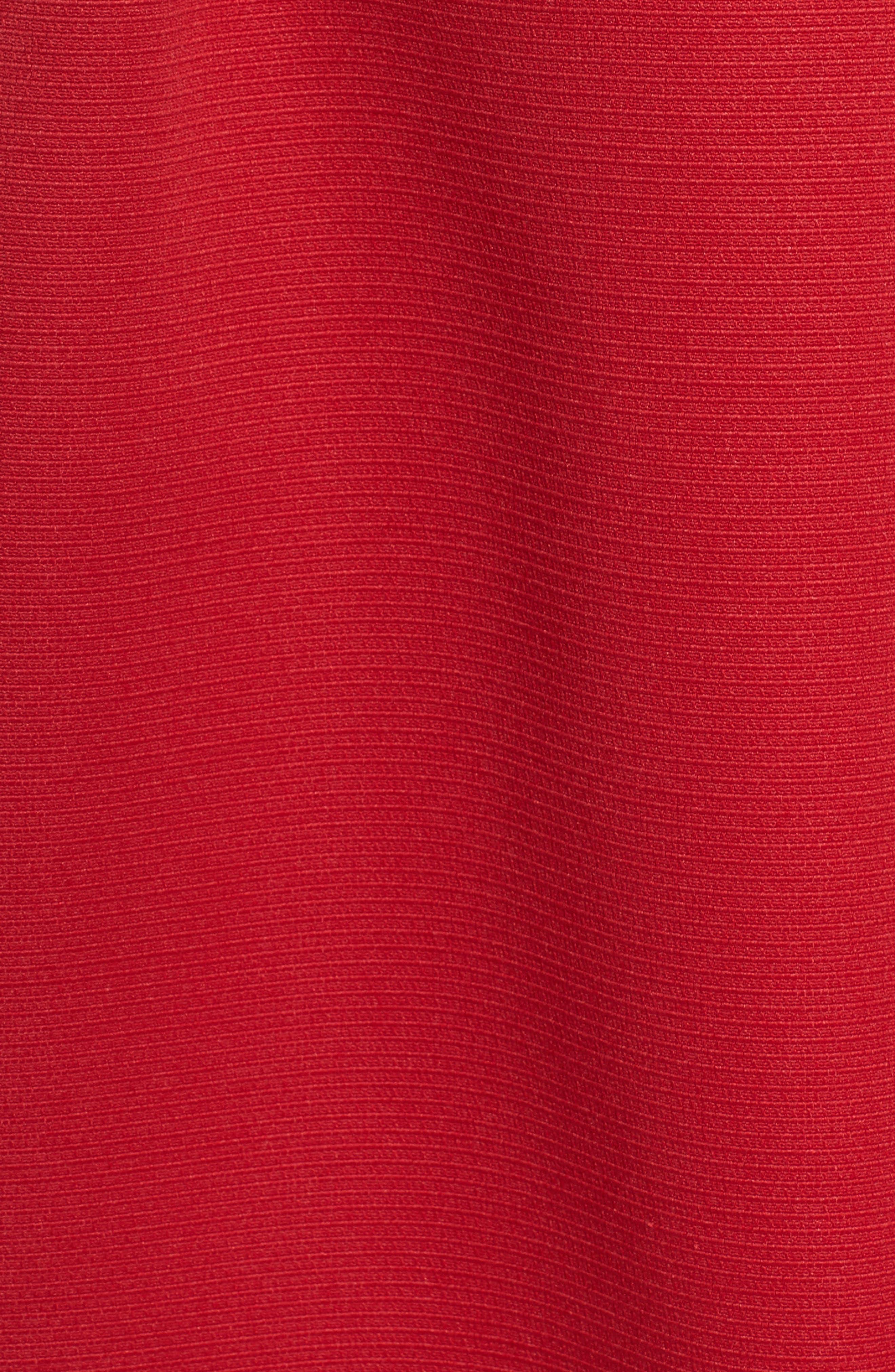 Bow Front A-Line Dress,                             Alternate thumbnail 7, color,
