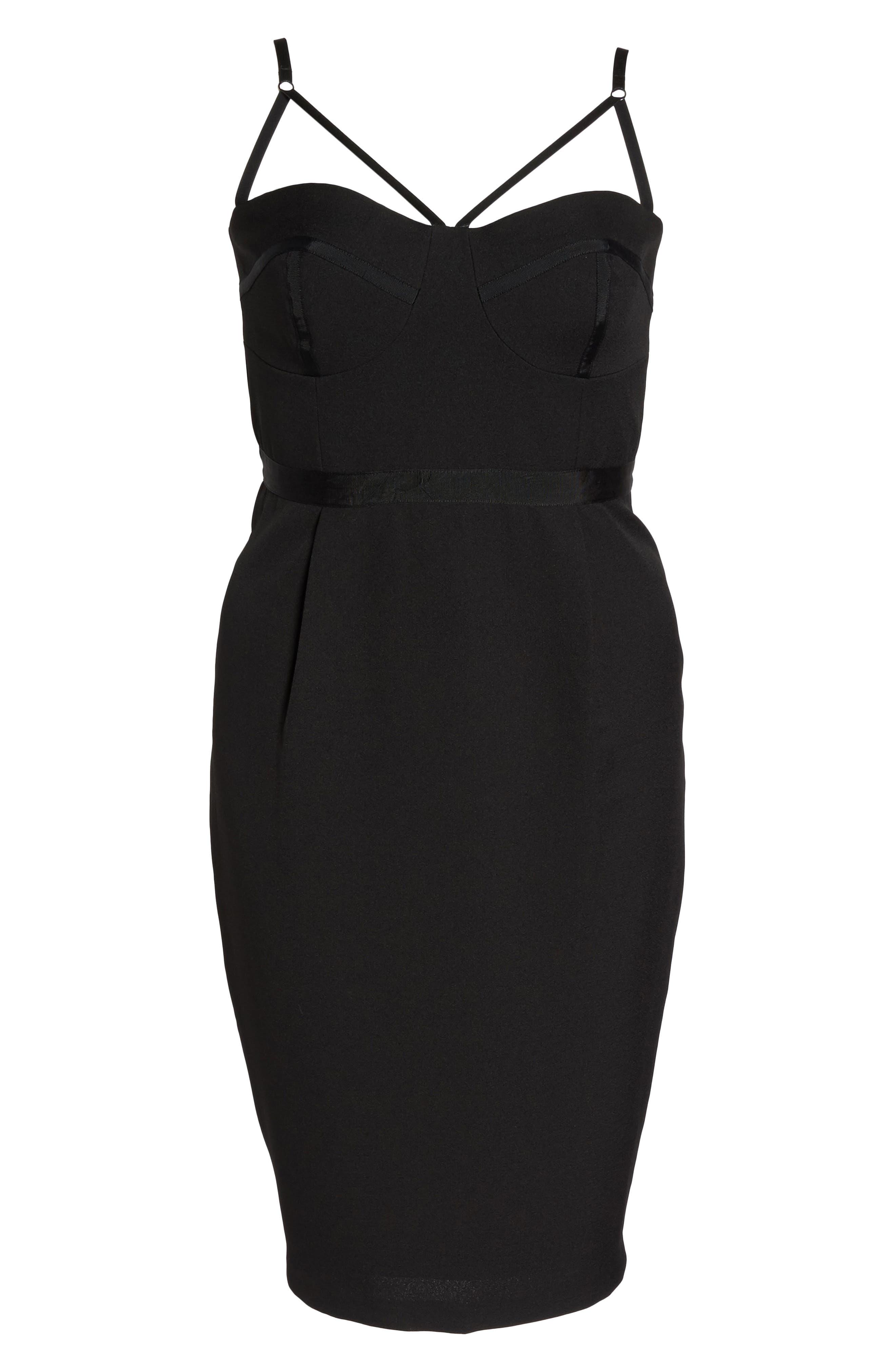 Undress Me Dress,                             Alternate thumbnail 7, color,                             BLACK