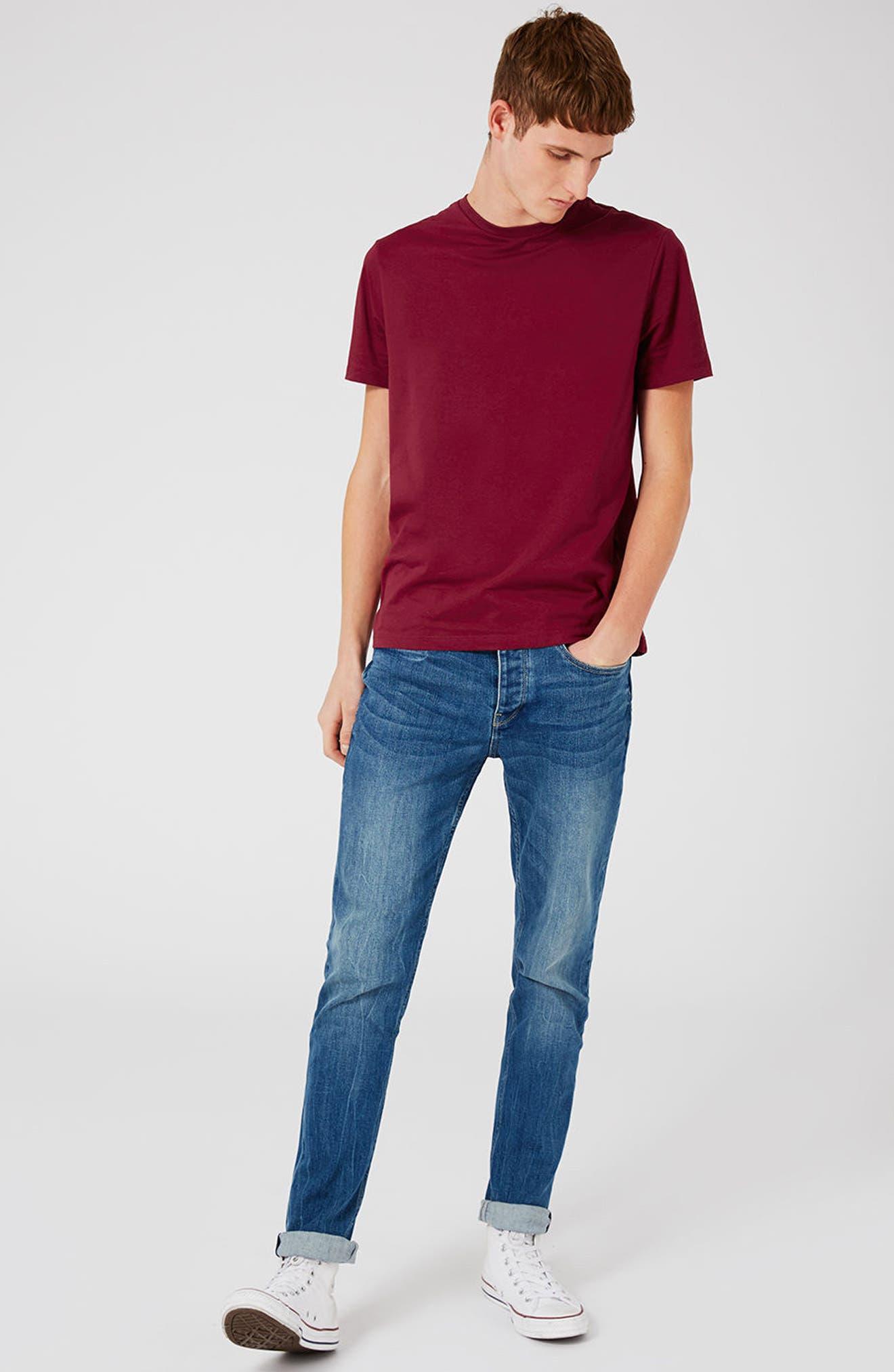 Slim Fit Crewneck T-Shirt,                             Alternate thumbnail 319, color,