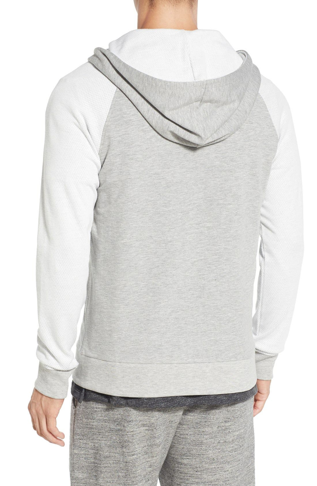 'Baseline' Zip Hoodie,                             Alternate thumbnail 2, color,                             GREY