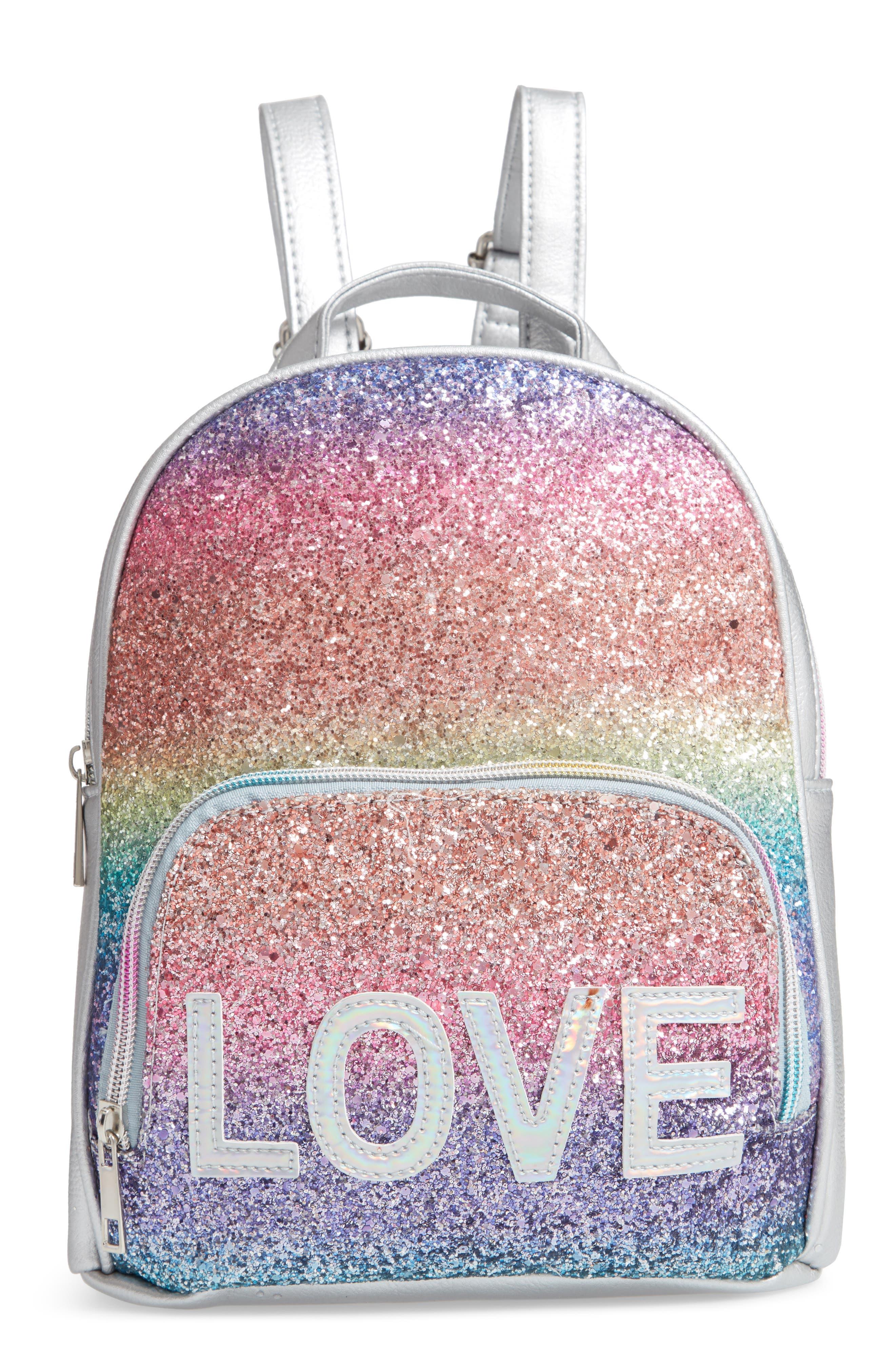 Girls Omg Ombre Glitter Mini Backpack  Metallic
